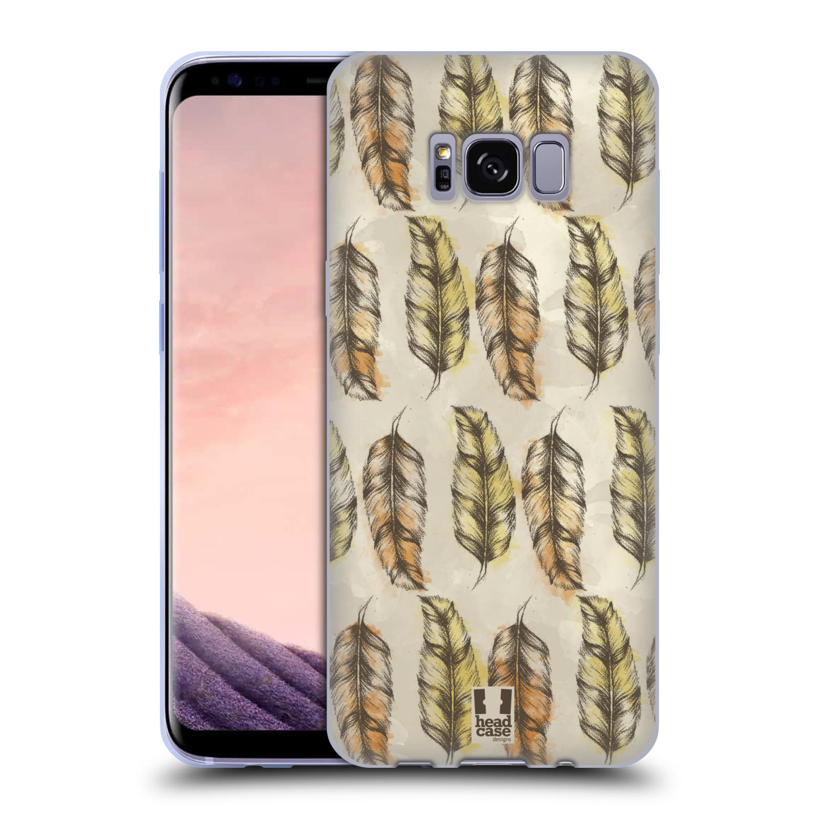 Silikonové pouzdro na mobil Samsung Galaxy S8 - Head Case - Bohémská pírka (Silikonový kryt či obal na mobilní telefon s motivem Bohemian Soul pro Samsung Galaxy S8 SM-G9500)