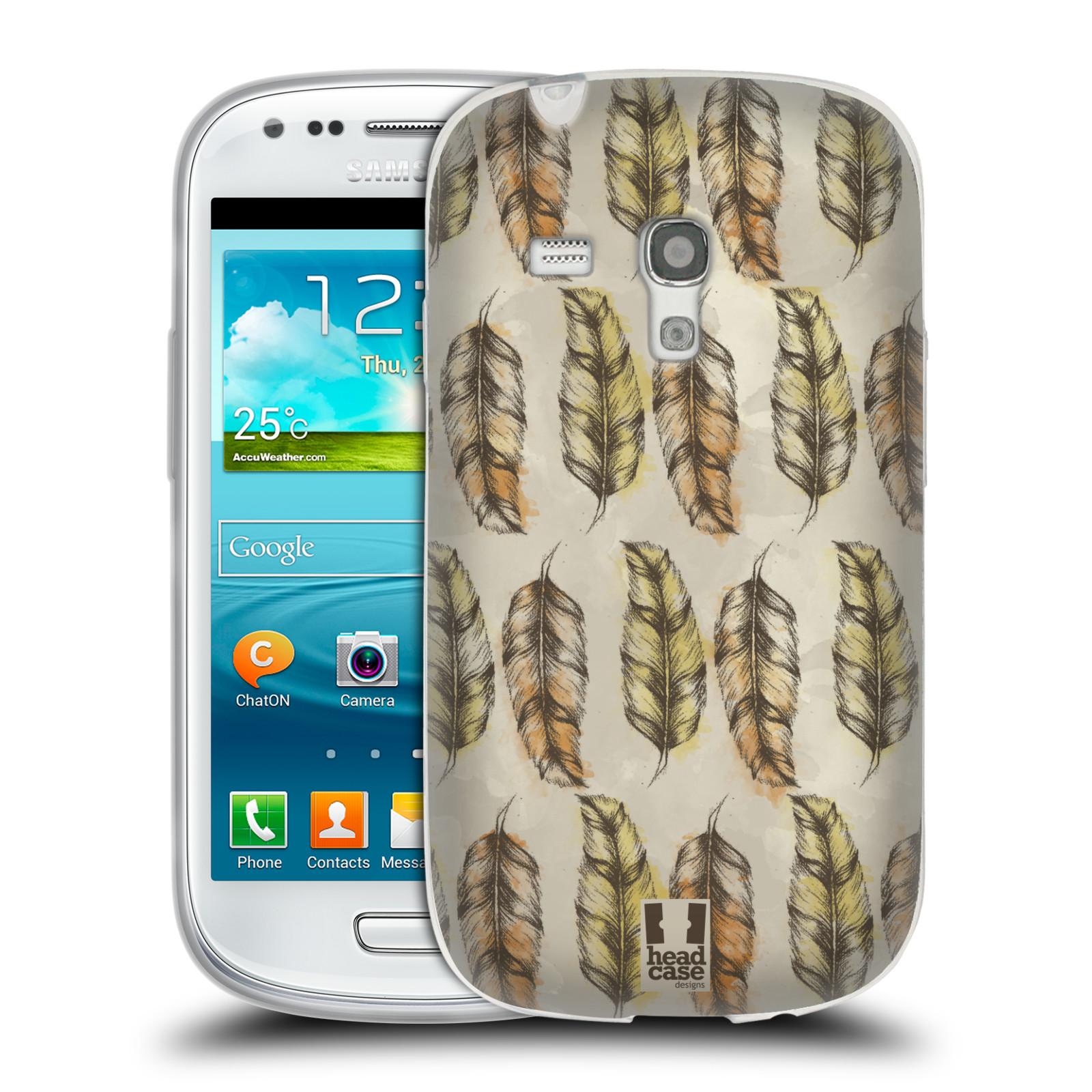 Silikonové pouzdro na mobil Samsung Galaxy S III Mini - Head Case - Bohémská pírka (Silikonový kryt či obal na mobilní telefon s motivem Bohemian Soul pro Samsung Galaxy S III Mini GT-i8190)