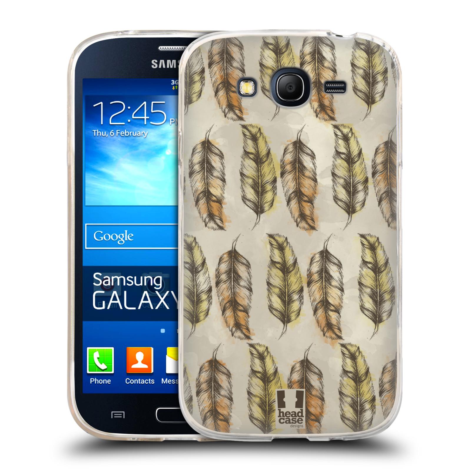 Silikonové pouzdro na mobil Samsung Galaxy Grand Neo Plus - Head Case - Bohémská pírka (Silikonový kryt či obal na mobilní telefon s motivem Bohemian Soul pro Samsung Galaxy Grand Neo Plus Duos GT-I9060i)