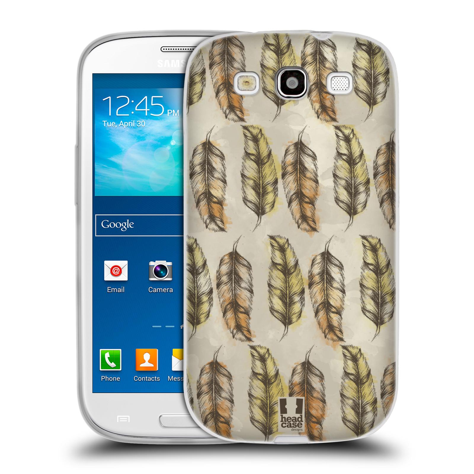 Silikonové pouzdro na mobil Samsung Galaxy S III - Head Case - Bohémská pírka (Silikonový kryt či obal na mobilní telefon s motivem Bohemian Soul pro Samsung Galaxy S III GT-i9300)