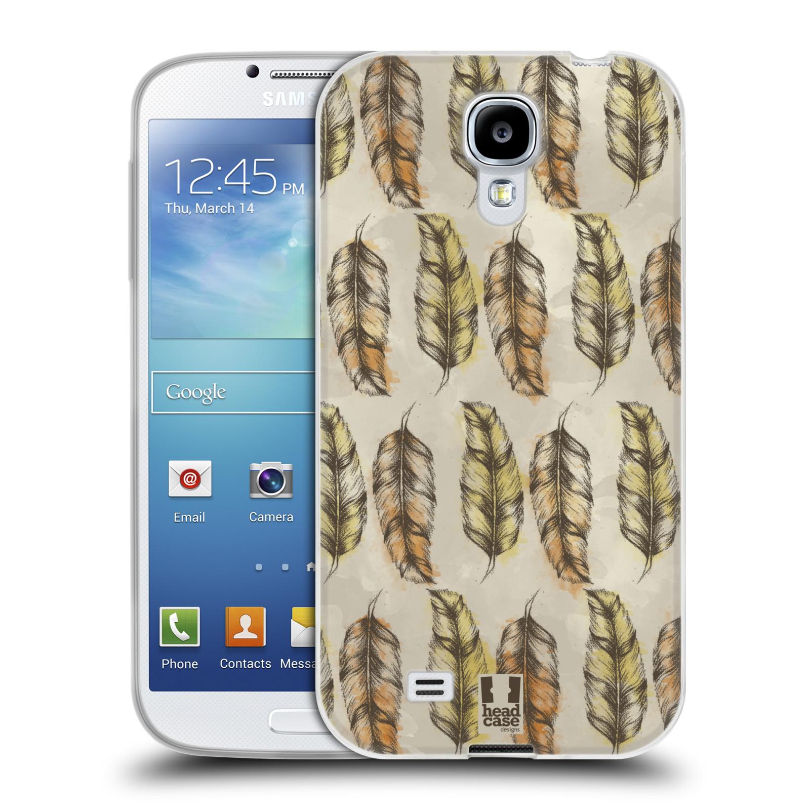 Silikonové pouzdro na mobil Samsung Galaxy S4 - Head Case - Bohémská pírka (Silikonový kryt či obal na mobilní telefon s motivem Bohemian Soul pro Samsung Galaxy S4 GT-i9505 / i9500)