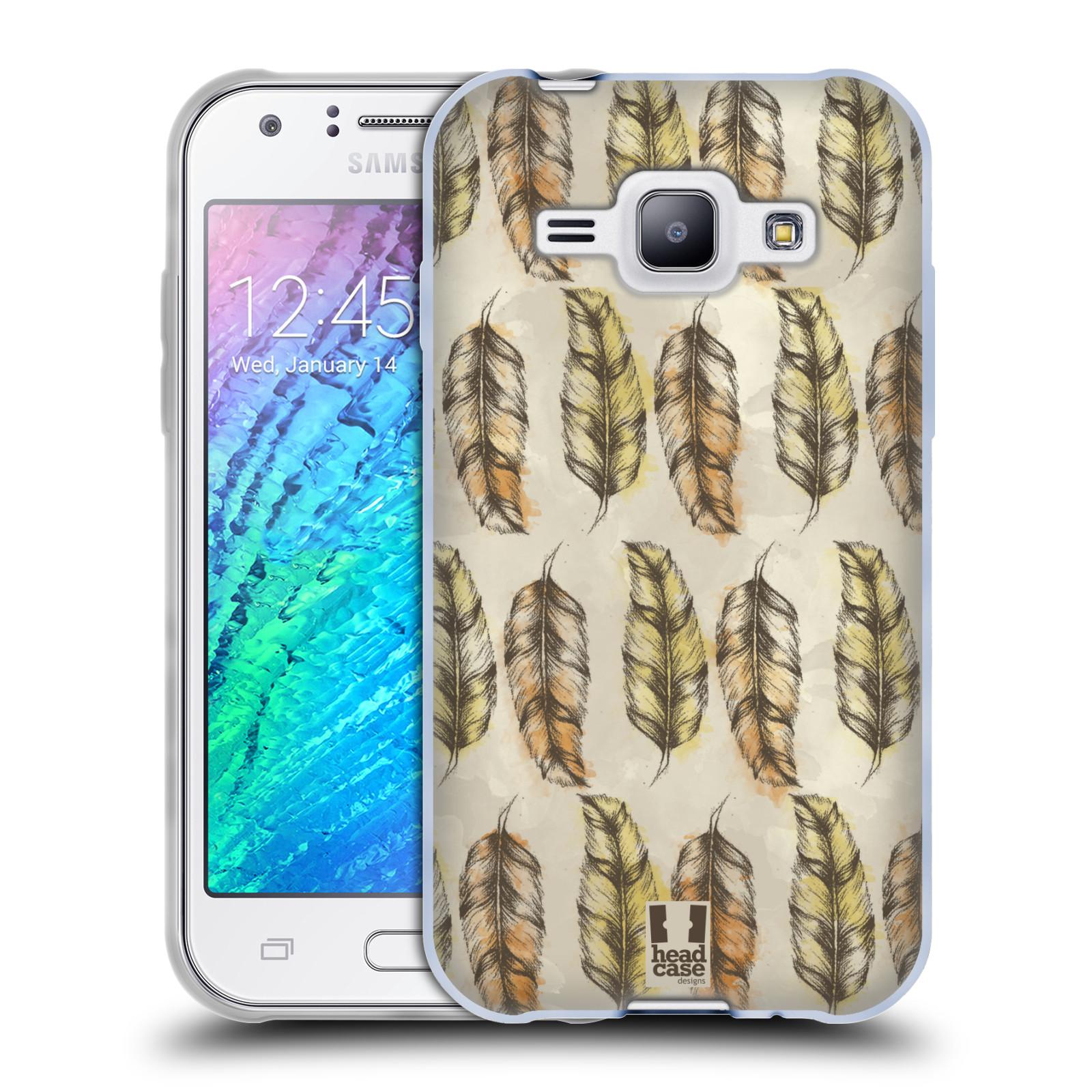 Silikonové pouzdro na mobil Samsung Galaxy J1 - Head Case - Bohémská pírka (Silikonový kryt či obal na mobilní telefon s motivem Bohemian Soul pro Samsung Galaxy J1 a J1 Duos)