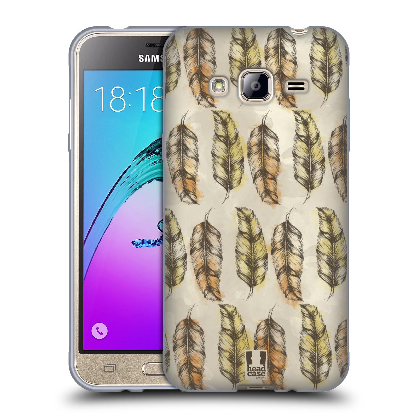 Silikonové pouzdro na mobil Samsung Galaxy J3 (2016) - Head Case - Bohémská pírka (Silikonový kryt či obal na mobilní telefon s motivem Bohemian Soul pro Samsung Galaxy J3 (2016) SM-J320F / Duos - Dual SIM SM-J320DS)