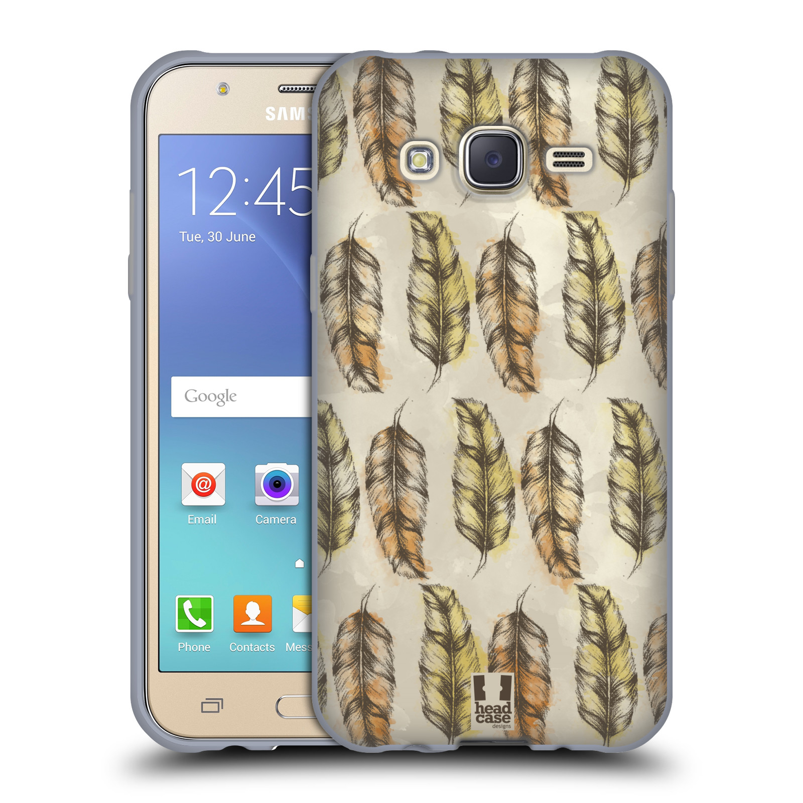 Silikonové pouzdro na mobil Samsung Galaxy J5 - Head Case - Bohémská pírka (Silikonový kryt či obal na mobilní telefon s motivem Bohemian Soul pro Samsung Galaxy Samsung Galaxy J5 SM-J500)
