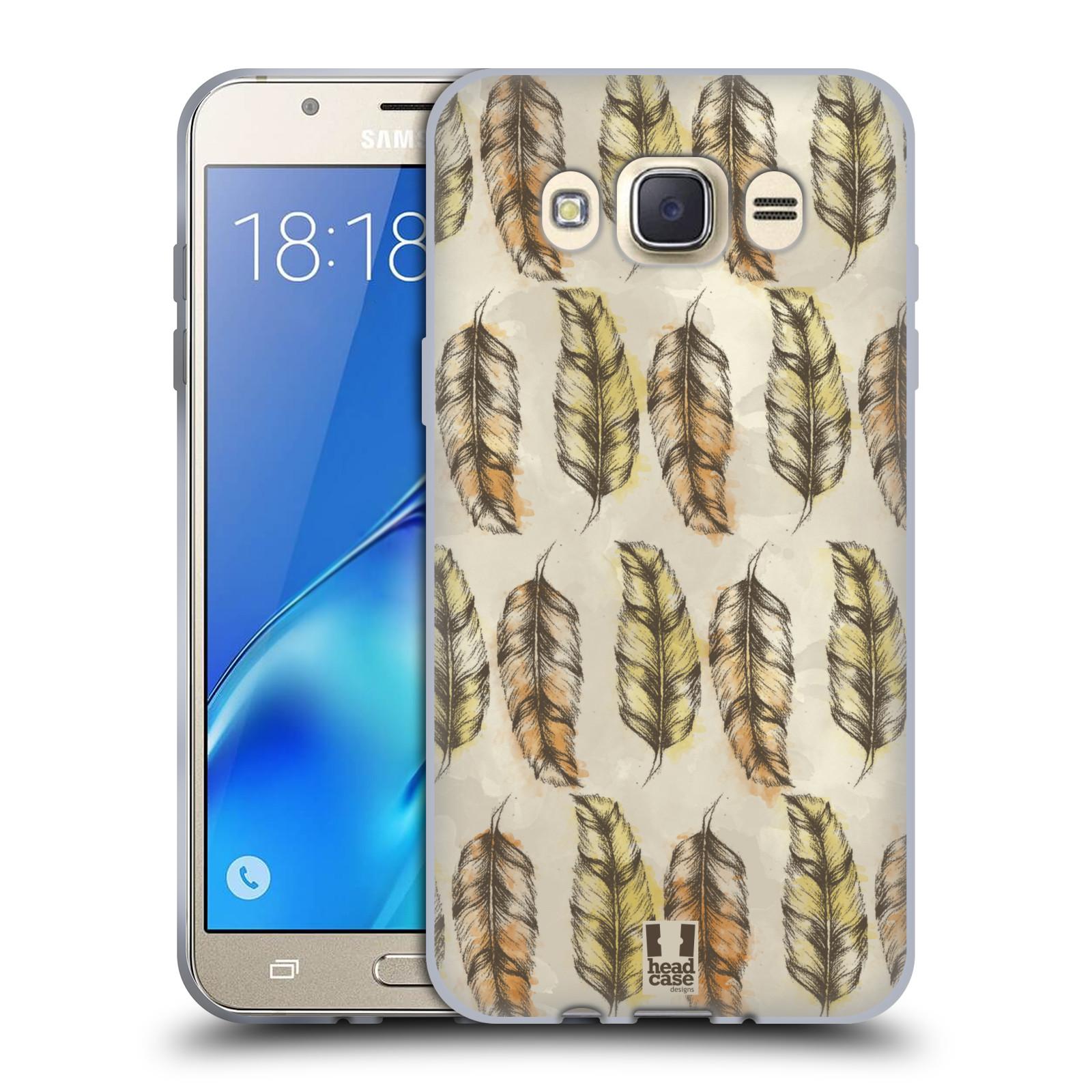 Silikonové pouzdro na mobil Samsung Galaxy J7 (2016) - Head Case - Bohémská pírka (Silikonový kryt či obal na mobilní telefon s motivem Bohemian Soul pro Samsung Galaxy J7 (2016) SM-J710)