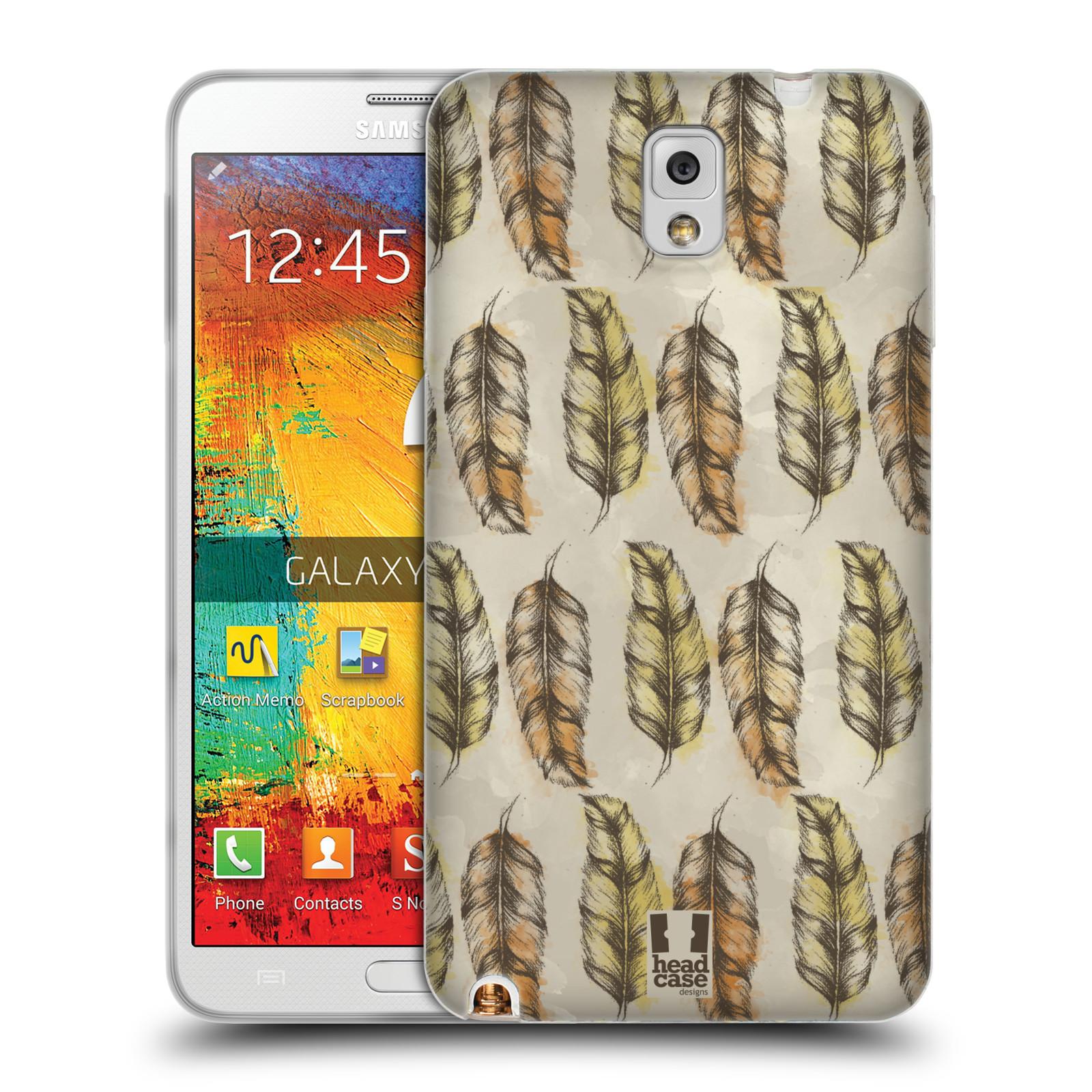 Silikonové pouzdro na mobil Samsung Galaxy Note 3 - Head Case - Bohémská pírka (Silikonový kryt či obal na mobilní telefon s motivem Bohemian Soul pro Samsung Galaxy Note 3 SM-N9005)