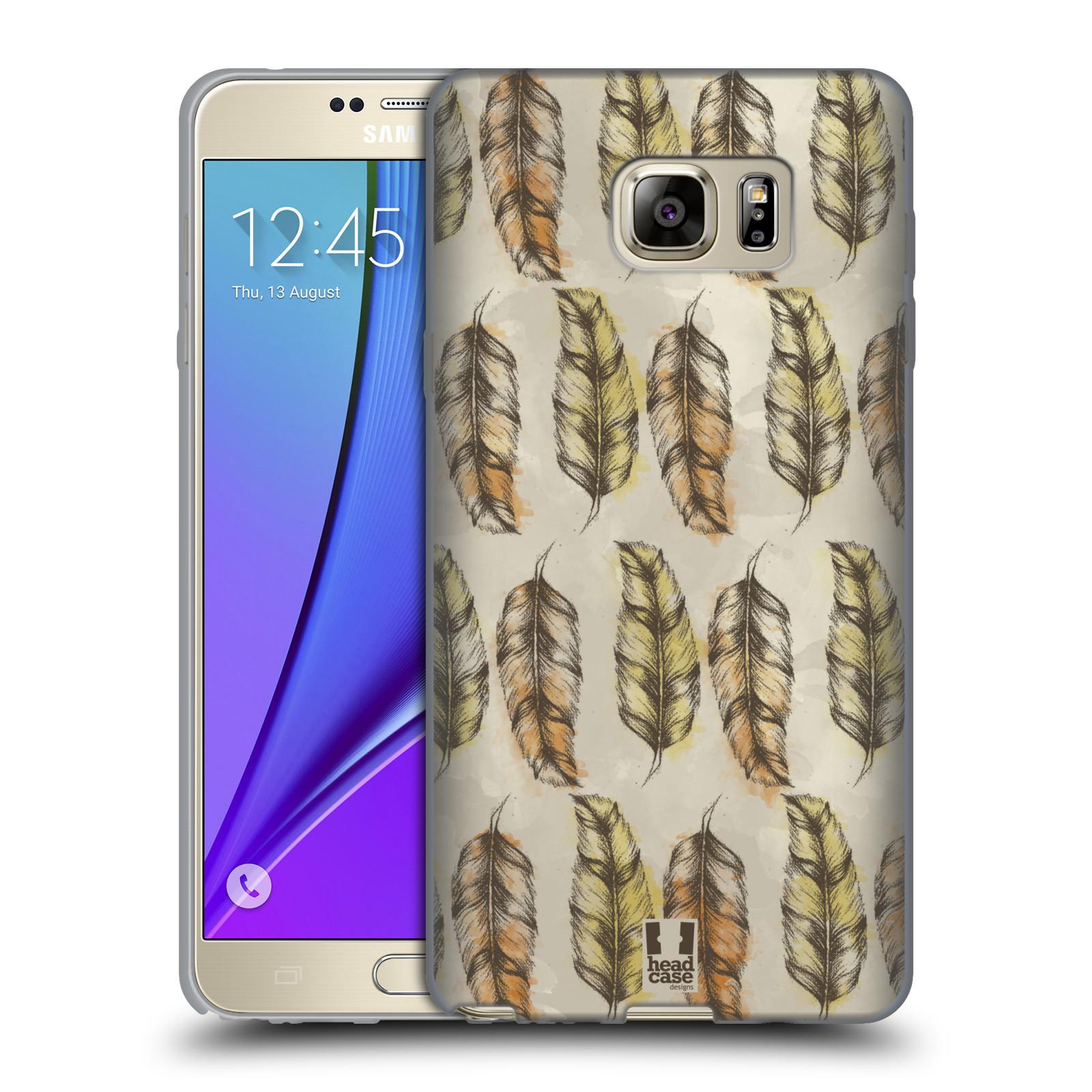Silikonové pouzdro na mobil Samsung Galaxy Note 5 - Head Case - Bohémská pírka (Silikonový kryt či obal na mobilní telefon s motivem Bohemian Soul pro Samsung Galaxy Note 5 SM-N920)