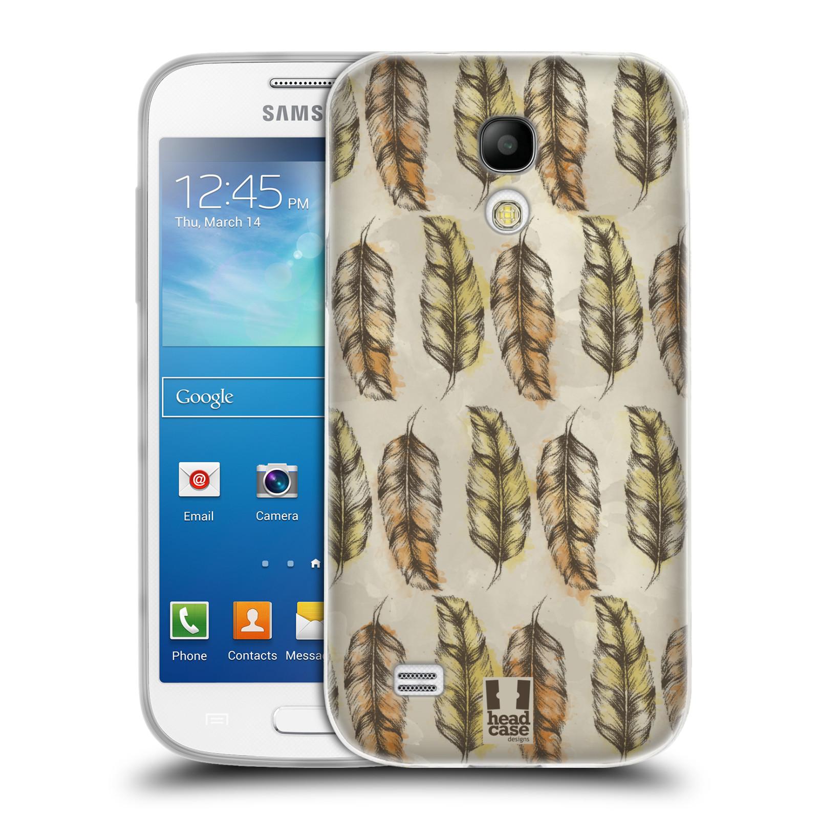 Silikonové pouzdro na mobil Samsung Galaxy S4 Mini - Head Case - Bohémská pírka (Silikonový kryt či obal na mobilní telefon s motivem Bohemian Soul pro Samsung Galaxy S4 Mini GT-i9195 / i9190)