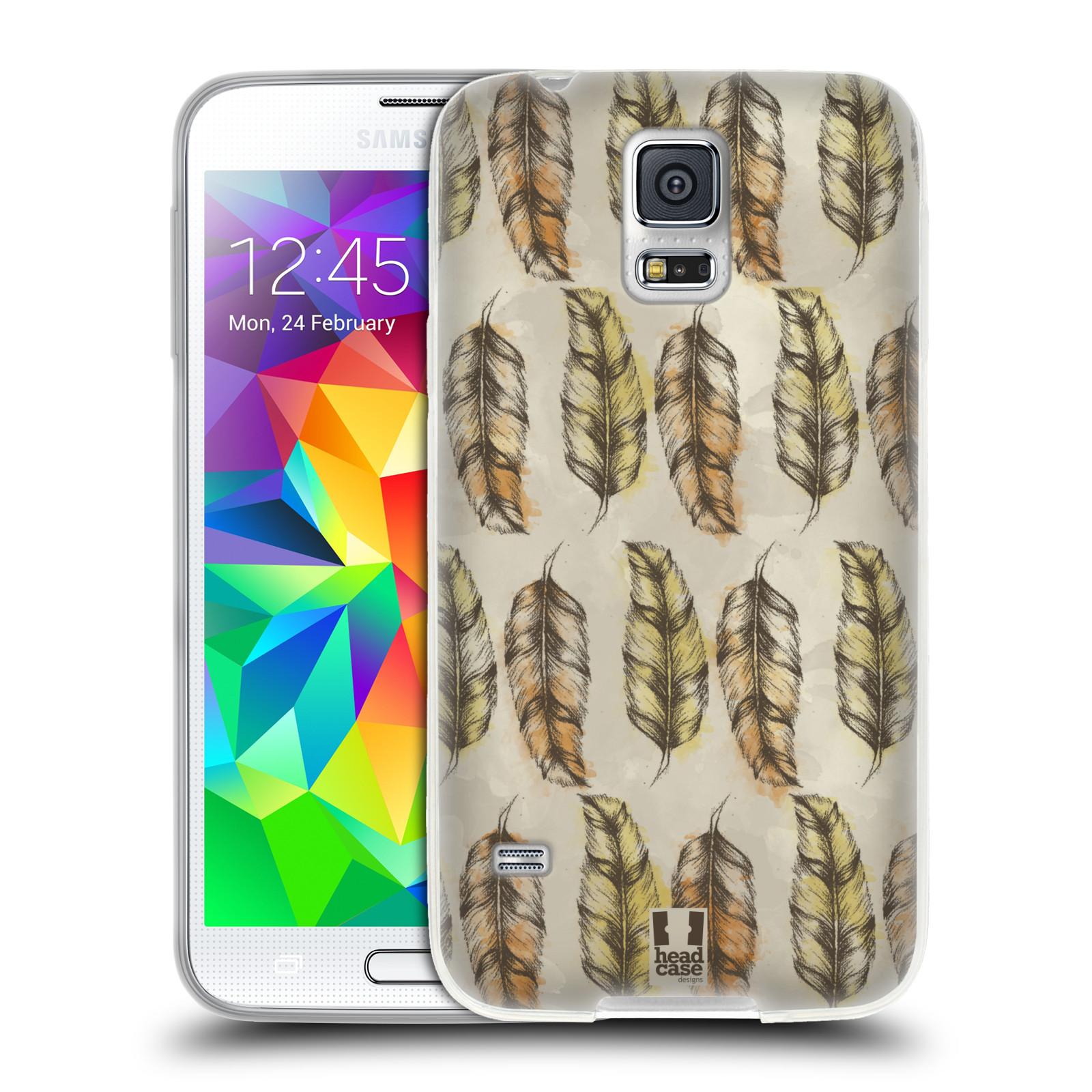 Silikonové pouzdro na mobil Samsung Galaxy S5 - Head Case - Bohémská pírka (Silikonový kryt či obal na mobilní telefon s motivem Bohemian Soul pro Samsung Galaxy S5 SM-G900F)