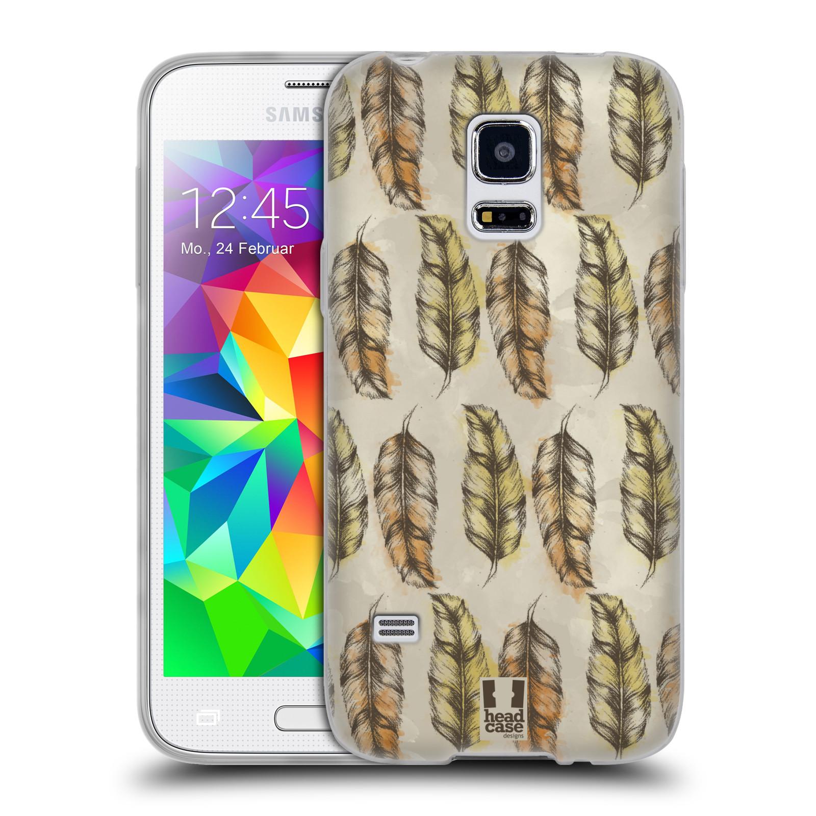Silikonové pouzdro na mobil Samsung Galaxy S5 Mini - Head Case - Bohémská pírka (Silikonový kryt či obal na mobilní telefon s motivem Bohemian Soul pro Samsung Galaxy S5 Mini SM-G800F)