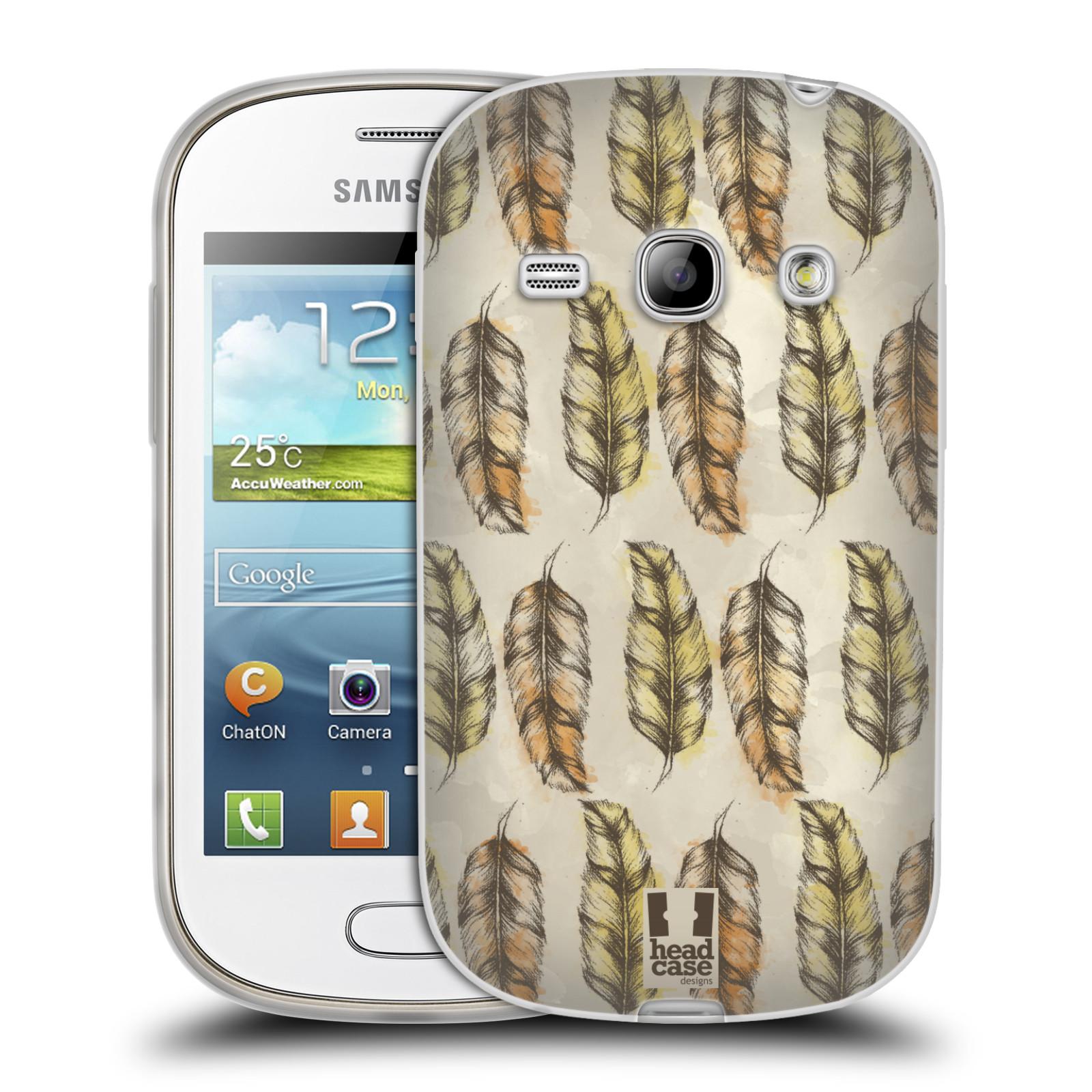 Silikonové pouzdro na mobil Samsung Galaxy Fame - Head Case - Bohémská pírka (Silikonový kryt či obal na mobilní telefon s motivem Bohemian Soul pro Samsung Galaxy Fame GT-S6810)