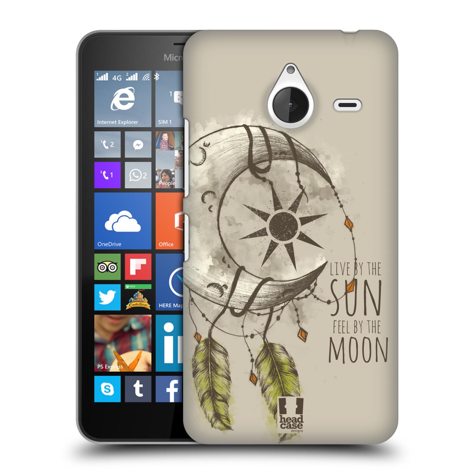 Plastové pouzdro na mobil Microsoft Lumia 640 XL - Head Case - Bohémský lapač (Plastový kryt či obal na mobilní telefon s motivem Bohemian Soul pro Microsoft Lumia 640 XL)