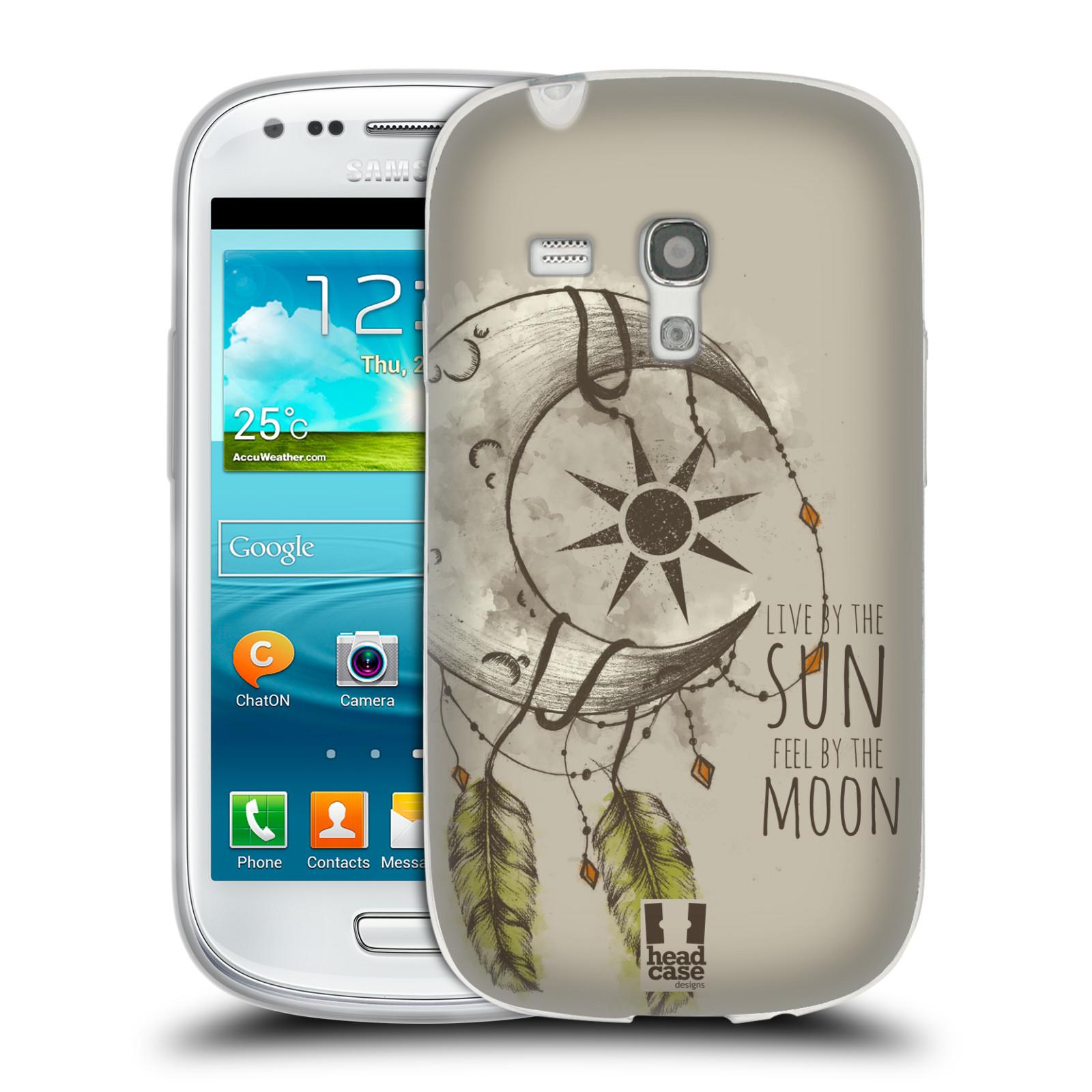 Silikonové pouzdro na mobil Samsung Galaxy S III Mini - Head Case - Bohémský lapač (Silikonový kryt či obal na mobilní telefon s motivem Bohemian Soul pro Samsung Galaxy S III Mini GT-i8190)