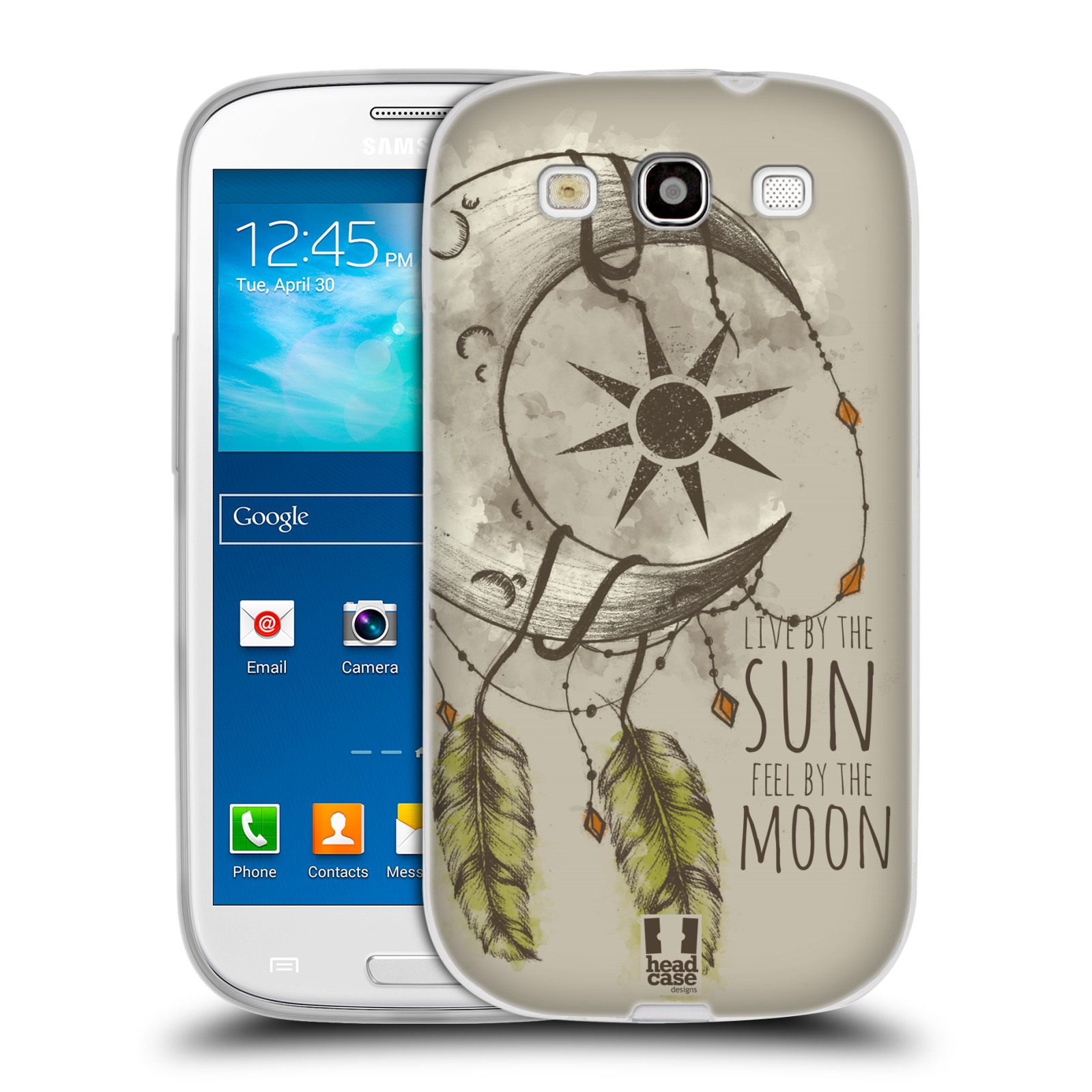 Silikonové pouzdro na mobil Samsung Galaxy S III - Head Case - Bohémský lapač (Silikonový kryt či obal na mobilní telefon s motivem Bohemian Soul pro Samsung Galaxy S III GT-i9300)