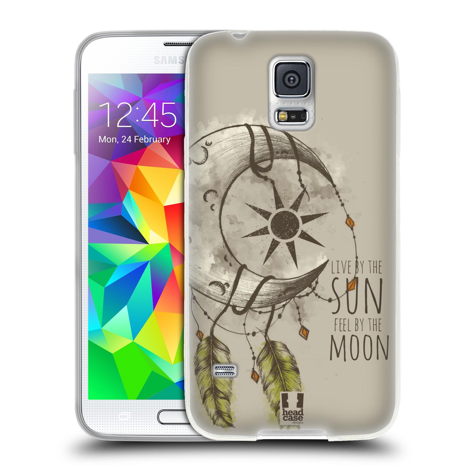 Silikonové pouzdro na mobil Samsung Galaxy S5 - Head Case - Bohémský lapač (Silikonový kryt či obal na mobilní telefon s motivem Bohemian Soul pro Samsung Galaxy S5 SM-G900F)