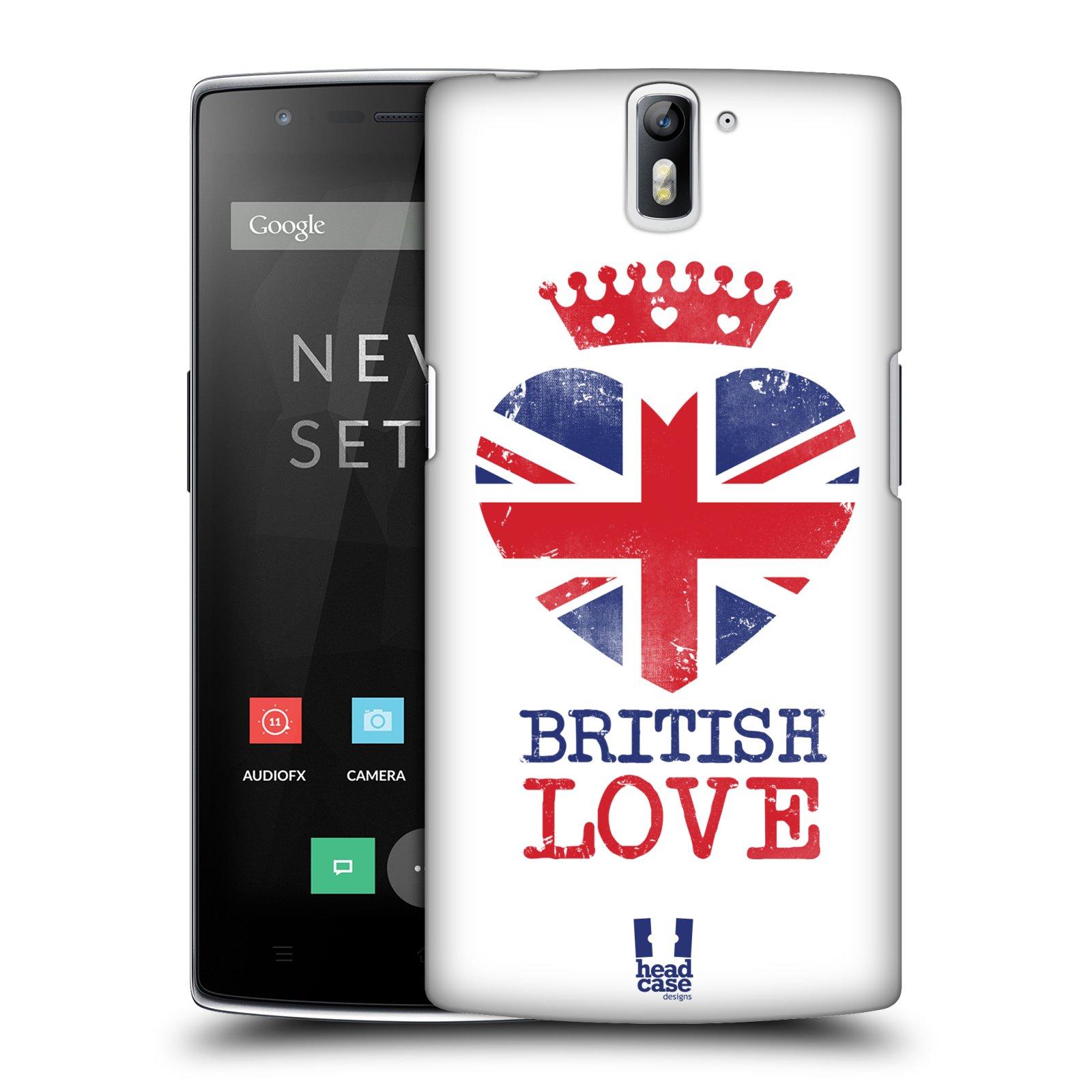 Plastové pouzdro na mobil OnePlus One HEAD CASE BRITISH LOVE