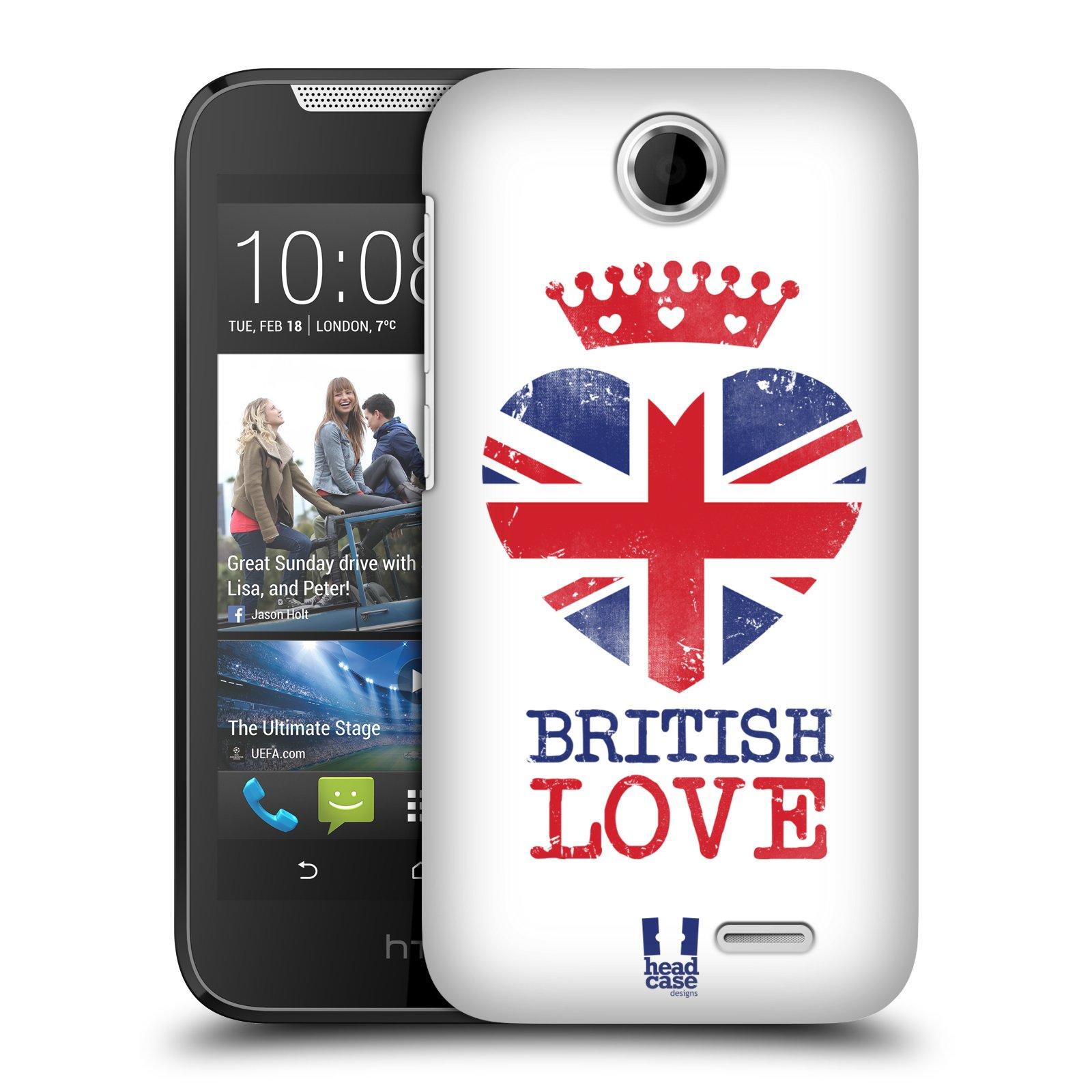 Plastové pouzdro na mobil HTC Desire 310 HEAD CASE BRITISH LOVE (Kryt či obal na mobilní telefon HTC Desire 310)