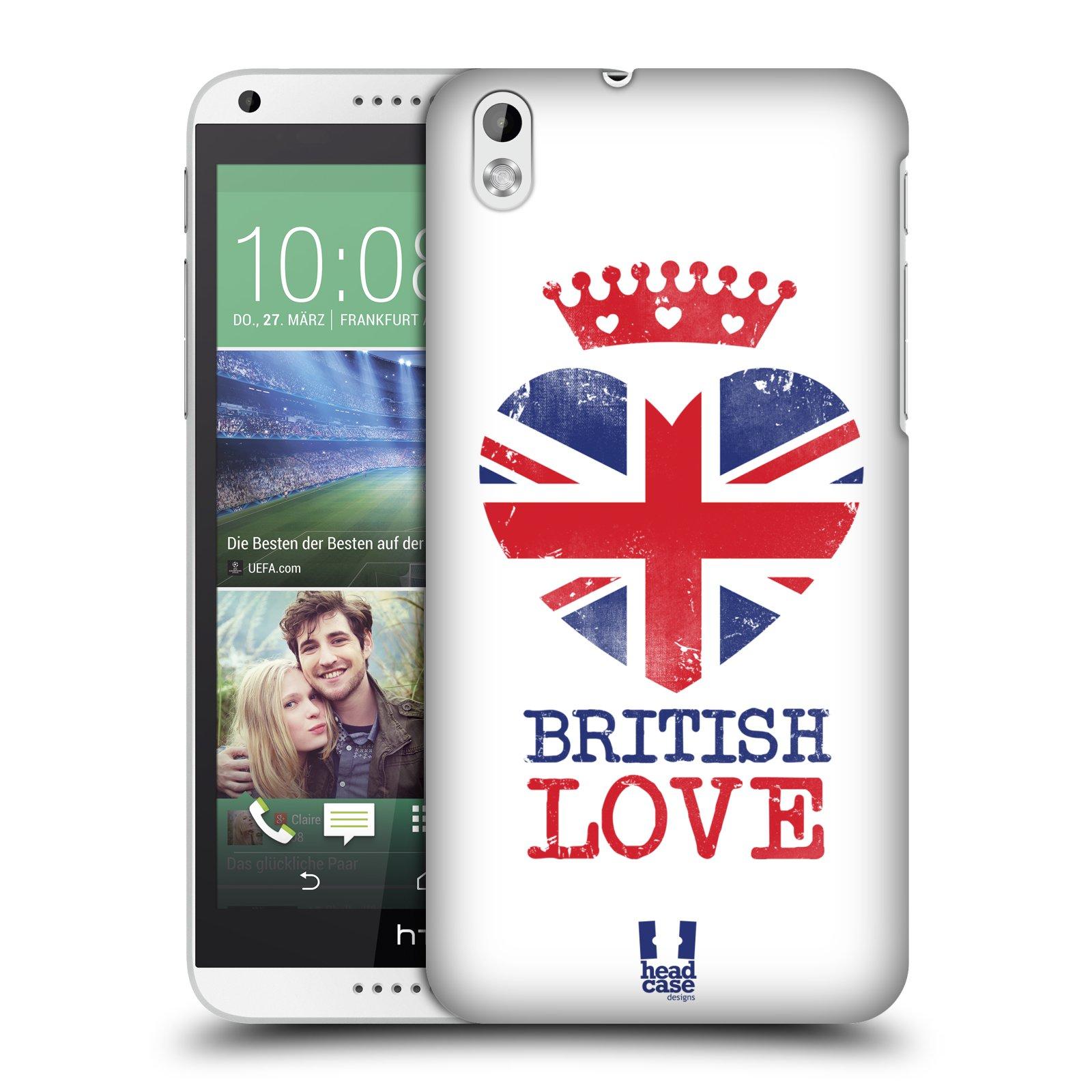 Plastové pouzdro na mobil HTC Desire 816 HEAD CASE BRITISH LOVE (Kryt či obal na mobilní telefon HTC Desire 816)