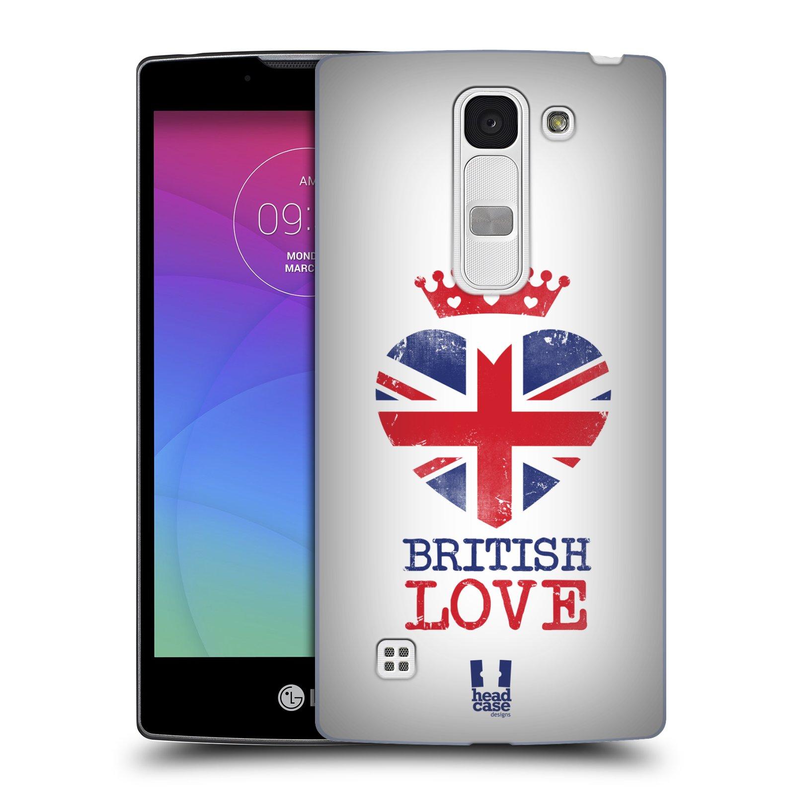 Plastové pouzdro na mobil LG Spirit LTE HEAD CASE BRITISH LOVE (Kryt či obal na mobilní telefon LG Spirit H420 a LG Spirit LTE H440N)