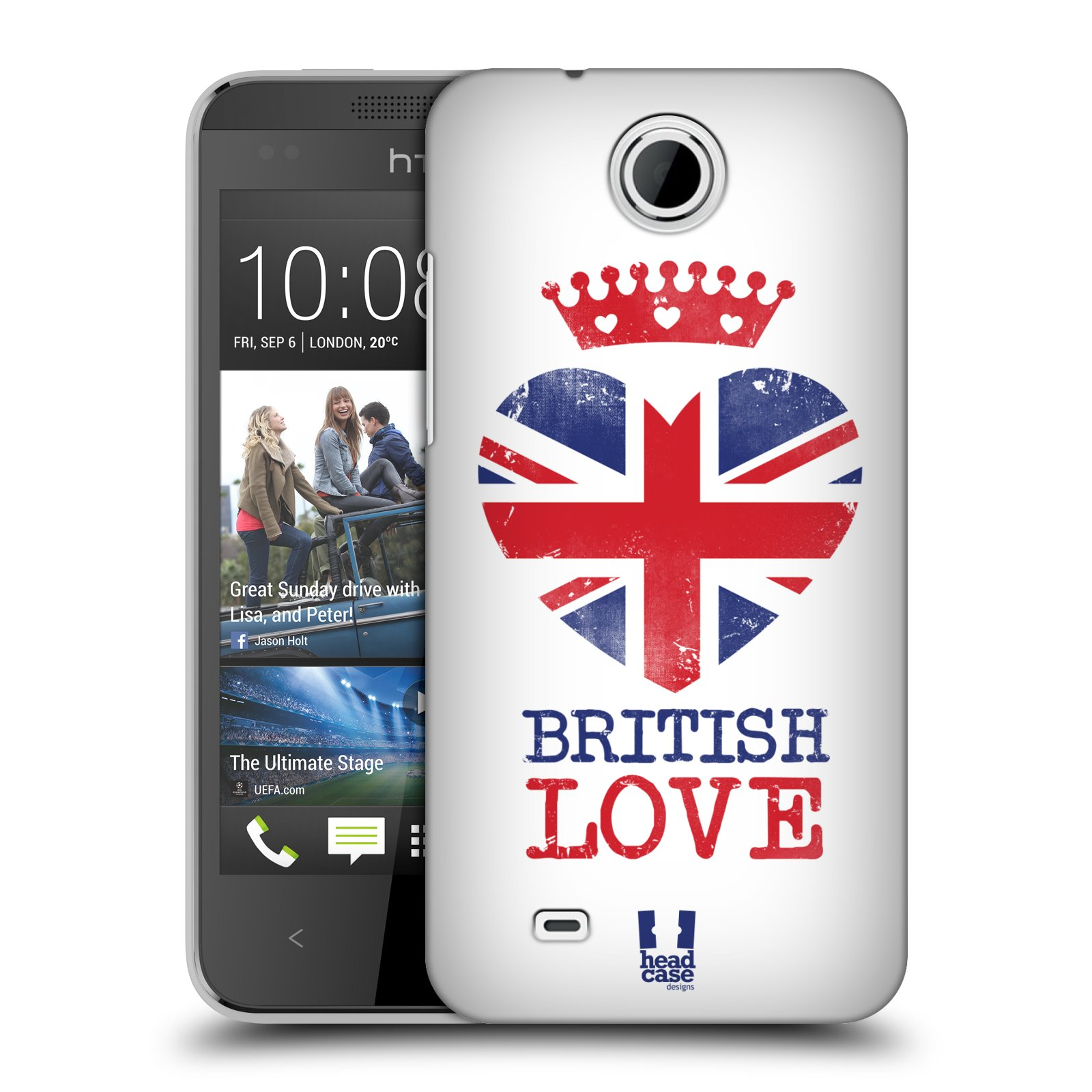 Plastové pouzdro na mobil HTC Desire 300 HEAD CASE BRITISH LOVE (Kryt či obal na mobilní telefon HTC Desire 300)