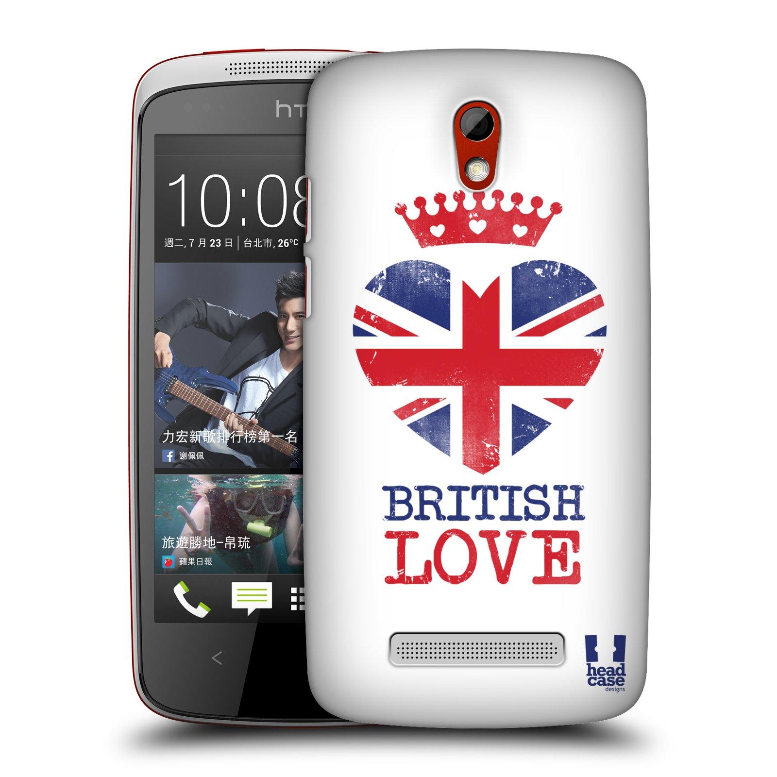 Plastové pouzdro na mobil HTC Desire 500 HEAD CASE BRITISH LOVE (Kryt či obal na mobilní telefon HTC Desire 500)