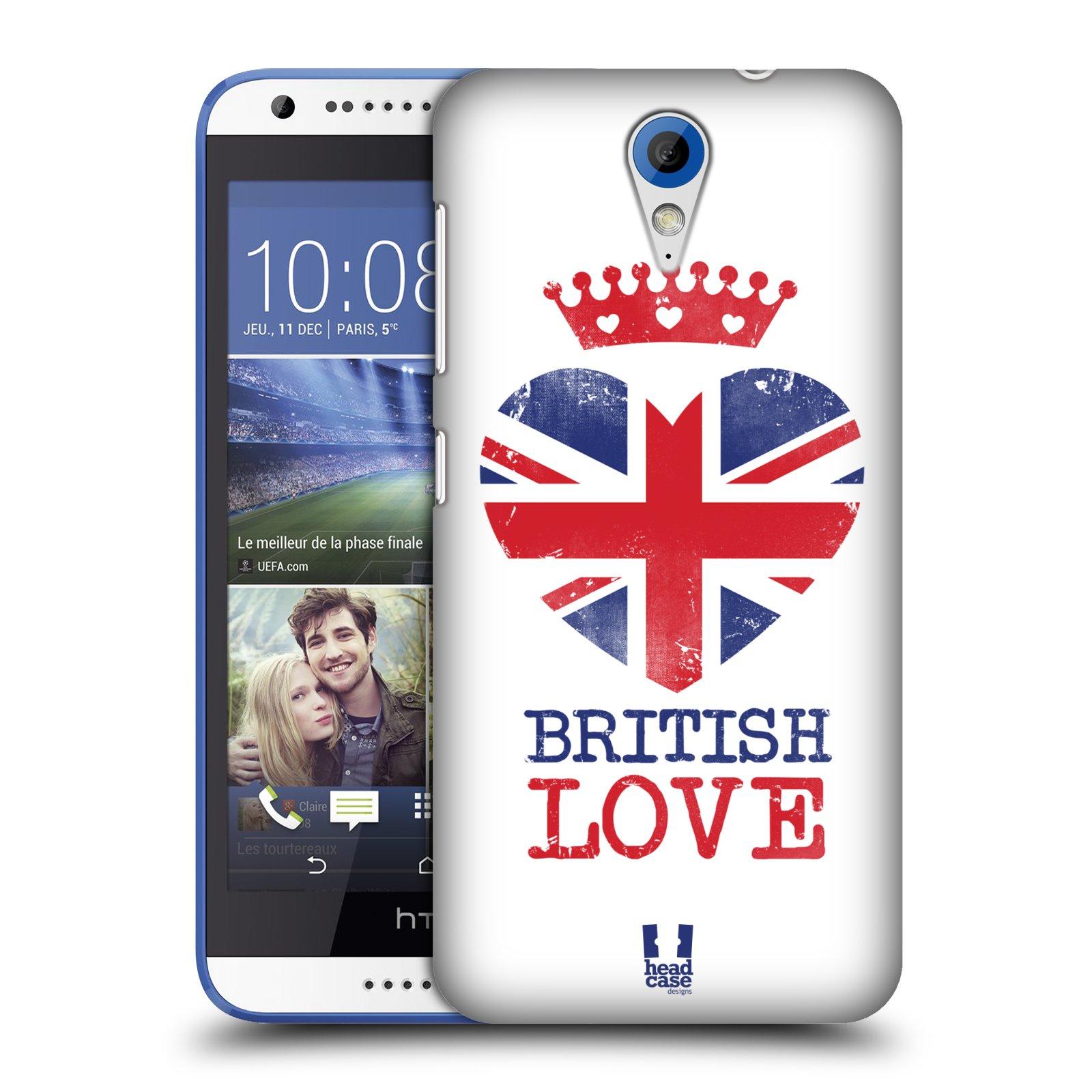 Plastové pouzdro na mobil HTC Desire 620 HEAD CASE BRITISH LOVE (Kryt či obal na mobilní telefon HTC Desire 620)