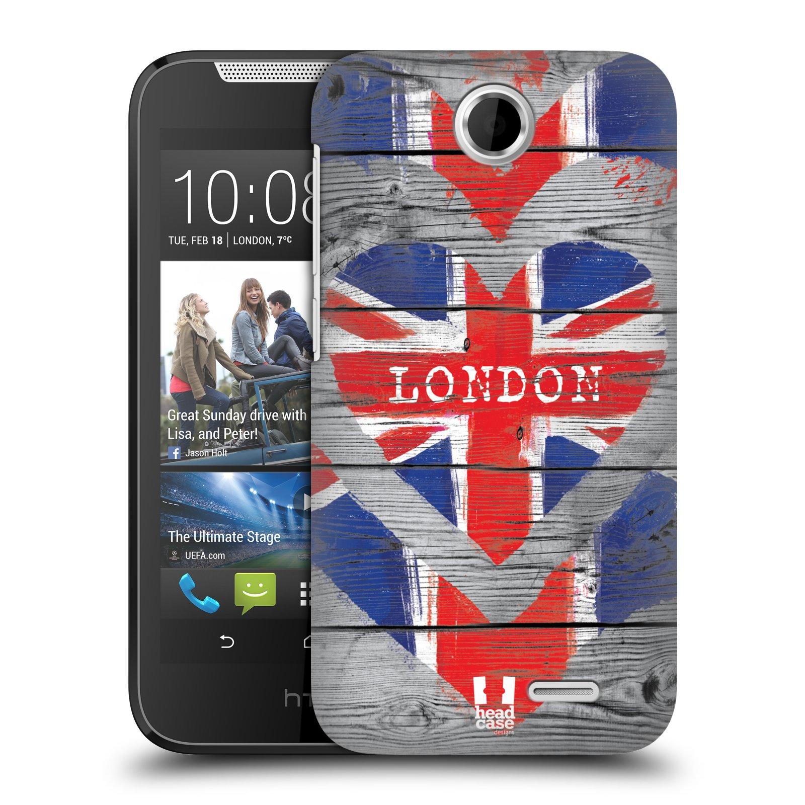 Plastové pouzdro na mobil HTC Desire 310 HEAD CASE LOVE LONDON (Kryt či obal na mobilní telefon HTC Desire 310)