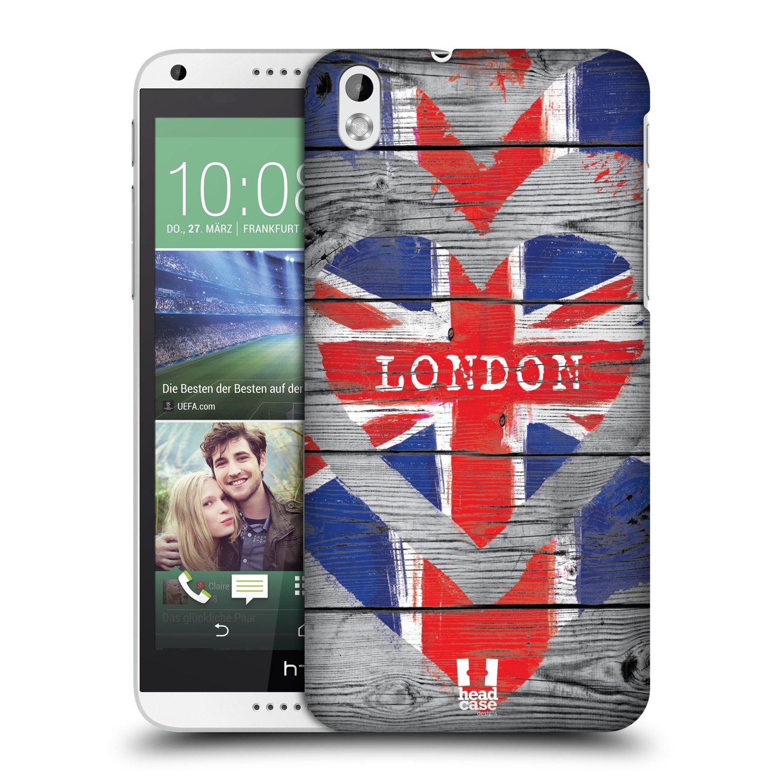 Plastové pouzdro na mobil HTC Desire 816 HEAD CASE LOVE LONDON (Kryt či obal na mobilní telefon HTC Desire 816)