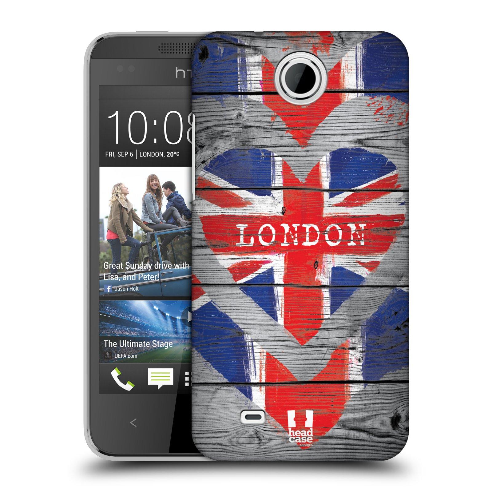 Plastové pouzdro na mobil HTC Desire 300 HEAD CASE LOVE LONDON (Kryt či obal na mobilní telefon HTC Desire 300)