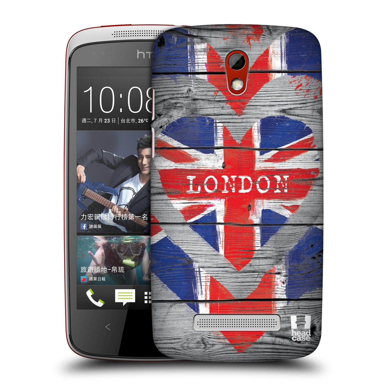 Plastové pouzdro na mobil HTC Desire 500 HEAD CASE LOVE LONDON (Kryt či obal na mobilní telefon HTC Desire 500)
