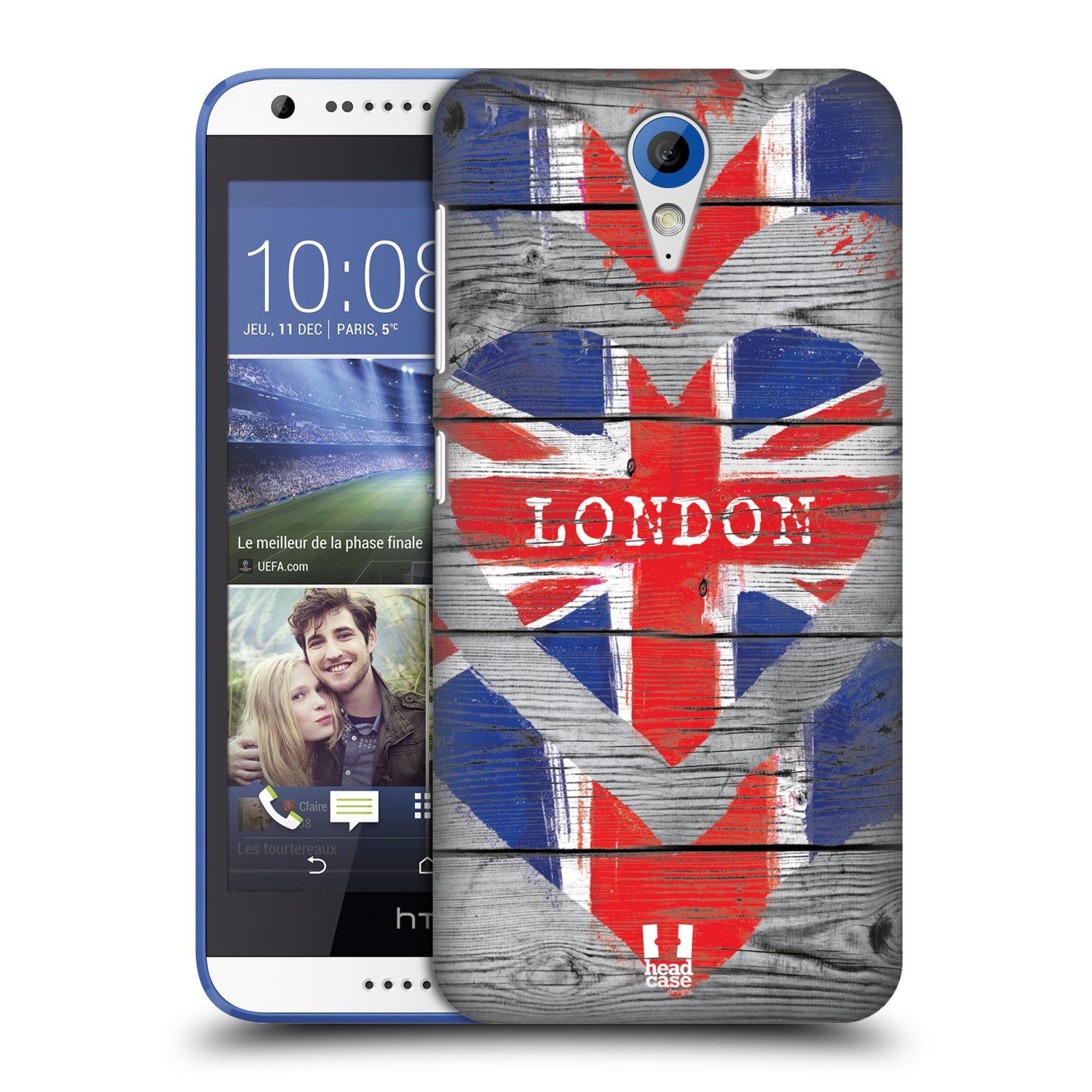 Plastové pouzdro na mobil HTC Desire 620 HEAD CASE LOVE LONDON (Kryt či obal na mobilní telefon HTC Desire 620)