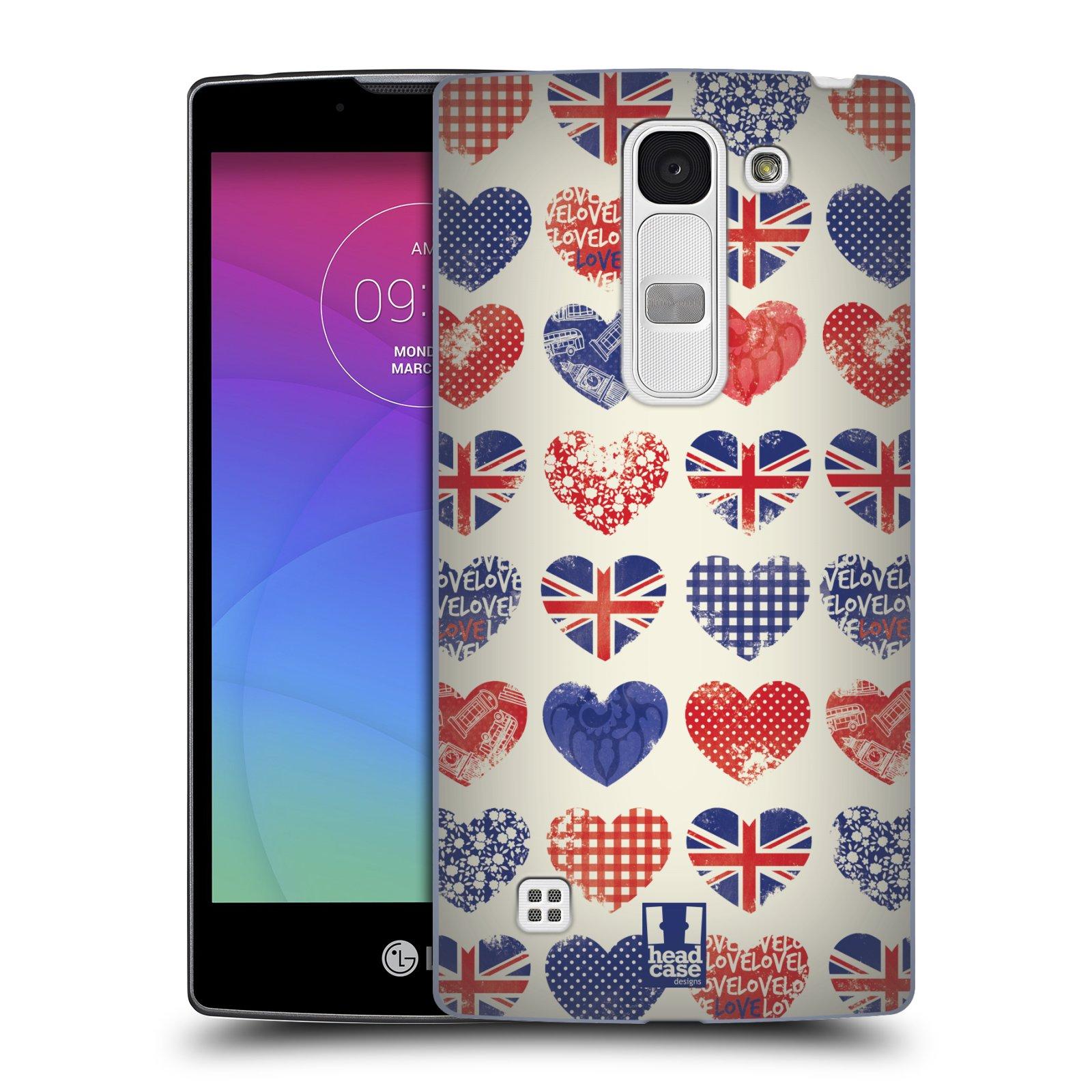 Plastové pouzdro na mobil LG Spirit LTE HEAD CASE BRITAN HEARTS (Kryt či obal na mobilní telefon LG Spirit H420 a LG Spirit LTE H440N)