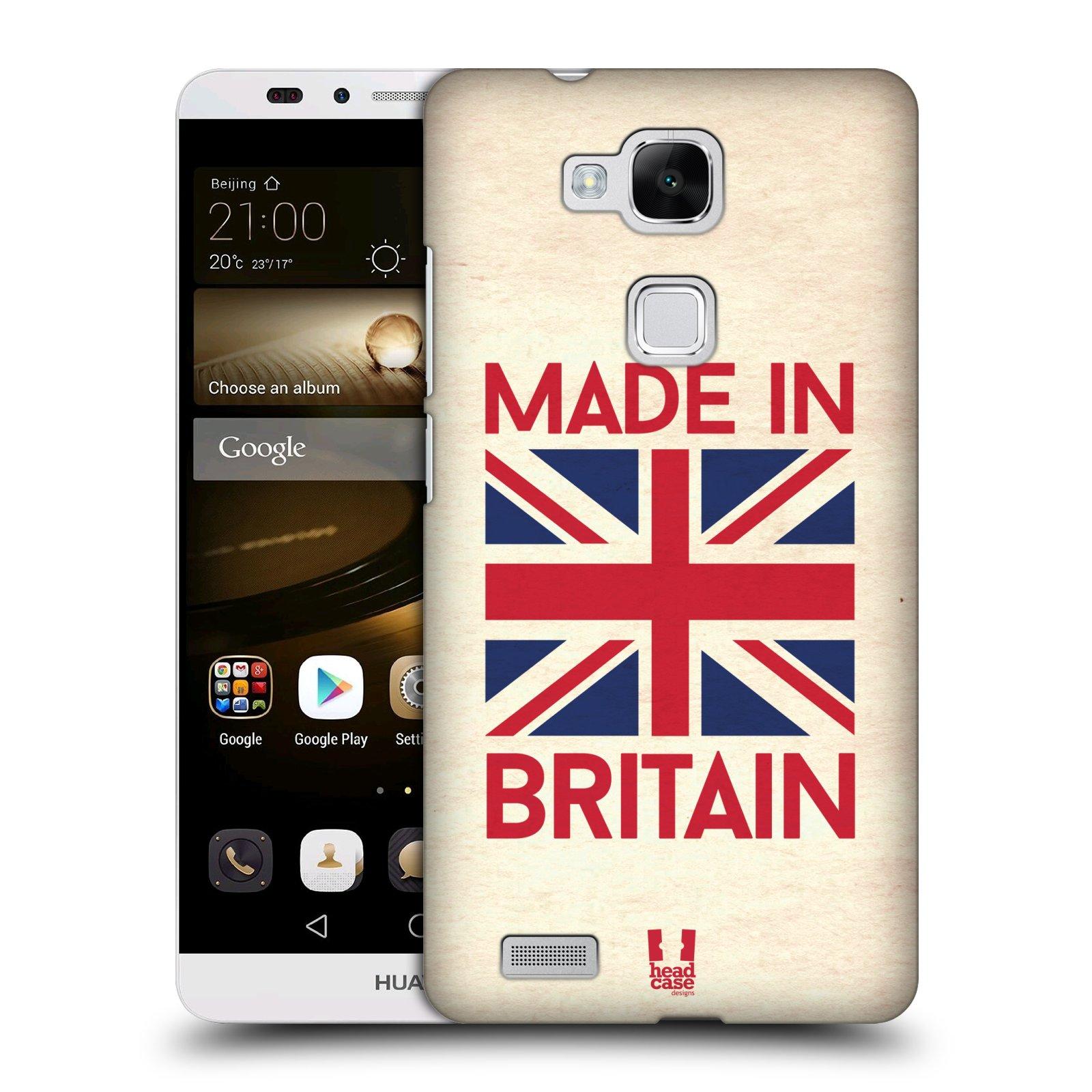 Plastové pouzdro na mobil Huawei Ascend Mate 7 HEAD CASE MADE IN BRITAIN (Kryt či obal na mobilní telefon Huawei Ascend Mate7)