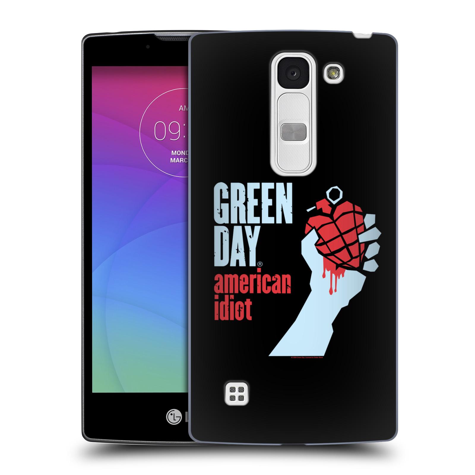 Plastové pouzdro na mobil LG Spirit LTE HEAD CASE Green Day - American Idiot (Plastový kryt či obal na mobilní telefon licencovaným motivem Green Day pro LG Spirit H420 a LG Spirit LTE H440N)