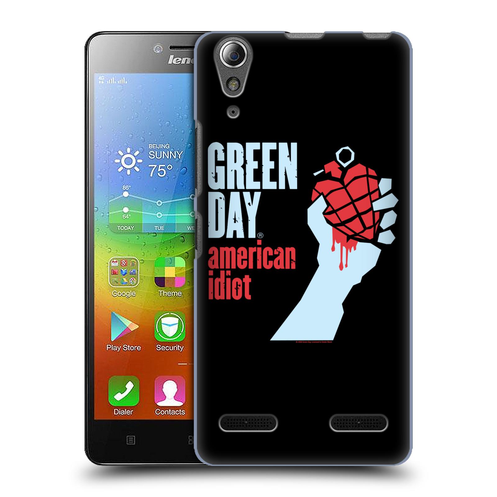Plastové pouzdro na mobil Lenovo A6000 HEAD CASE Green Day - American Idiot