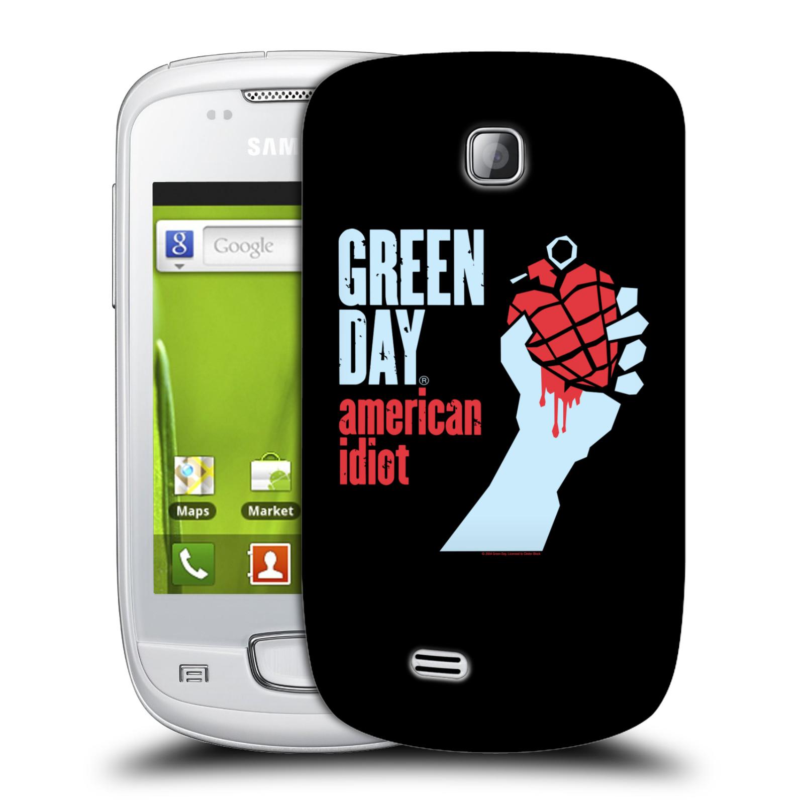 Plastové pouzdro na mobil Samsung Galaxy Mini HEAD CASE Green Day - American Idiot (Plastový kryt či obal na mobilní telefon licencovaným motivem Green Day pro Samsung Galaxy Mini GT-S5570 / GT-S5570i)