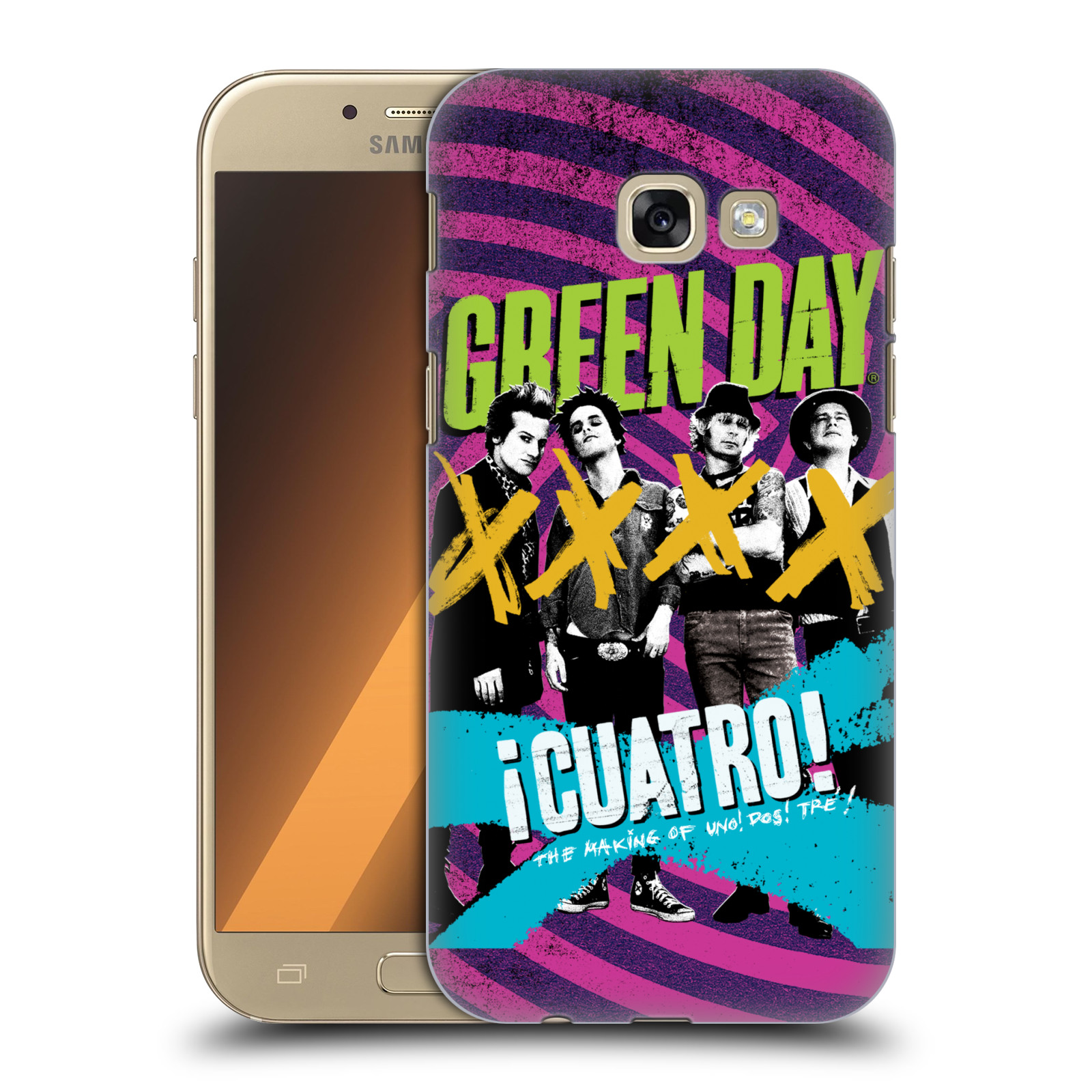 Plastové pouzdro na mobil Samsung Galaxy A5 (2017) HEAD CASE Green Day - Cuatro