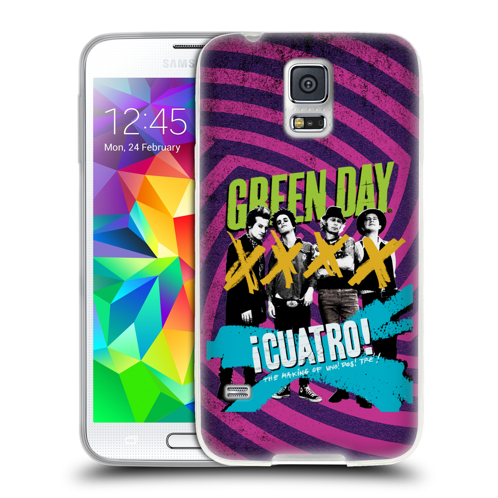 Silikonové pouzdro na mobil Samsung Galaxy S5 HEAD CASE Green Day - Cuatro