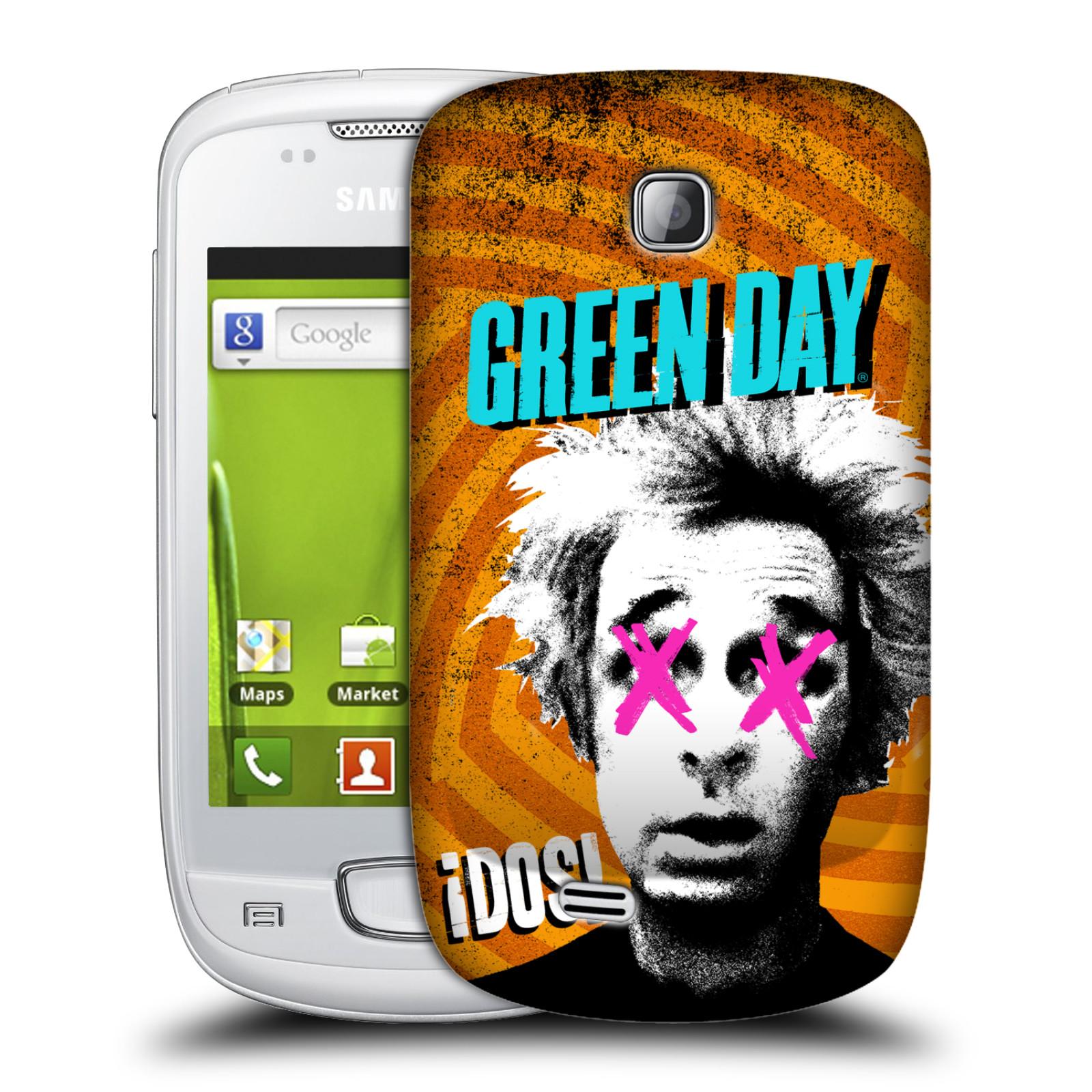 Plastové pouzdro na mobil Samsung Galaxy Mini HEAD CASE Green Day - Dos (Plastový kryt či obal na mobilní telefon licencovaným motivem Green Day pro Samsung Galaxy Mini GT-S5570 / GT-S5570i)