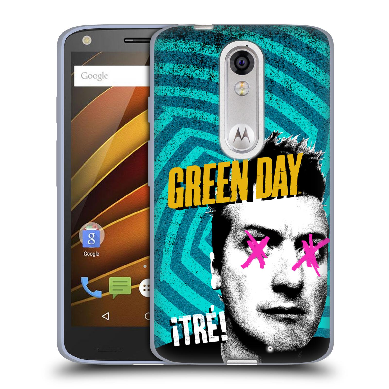 Silikonové pouzdro na mobil Lenovo Moto X Force HEAD CASE Green Day - Tré (Silikonový kryt či obal na mobilní telefon licencovaným motivem Green Day pro Lenovo Moto X Force (Motorola))