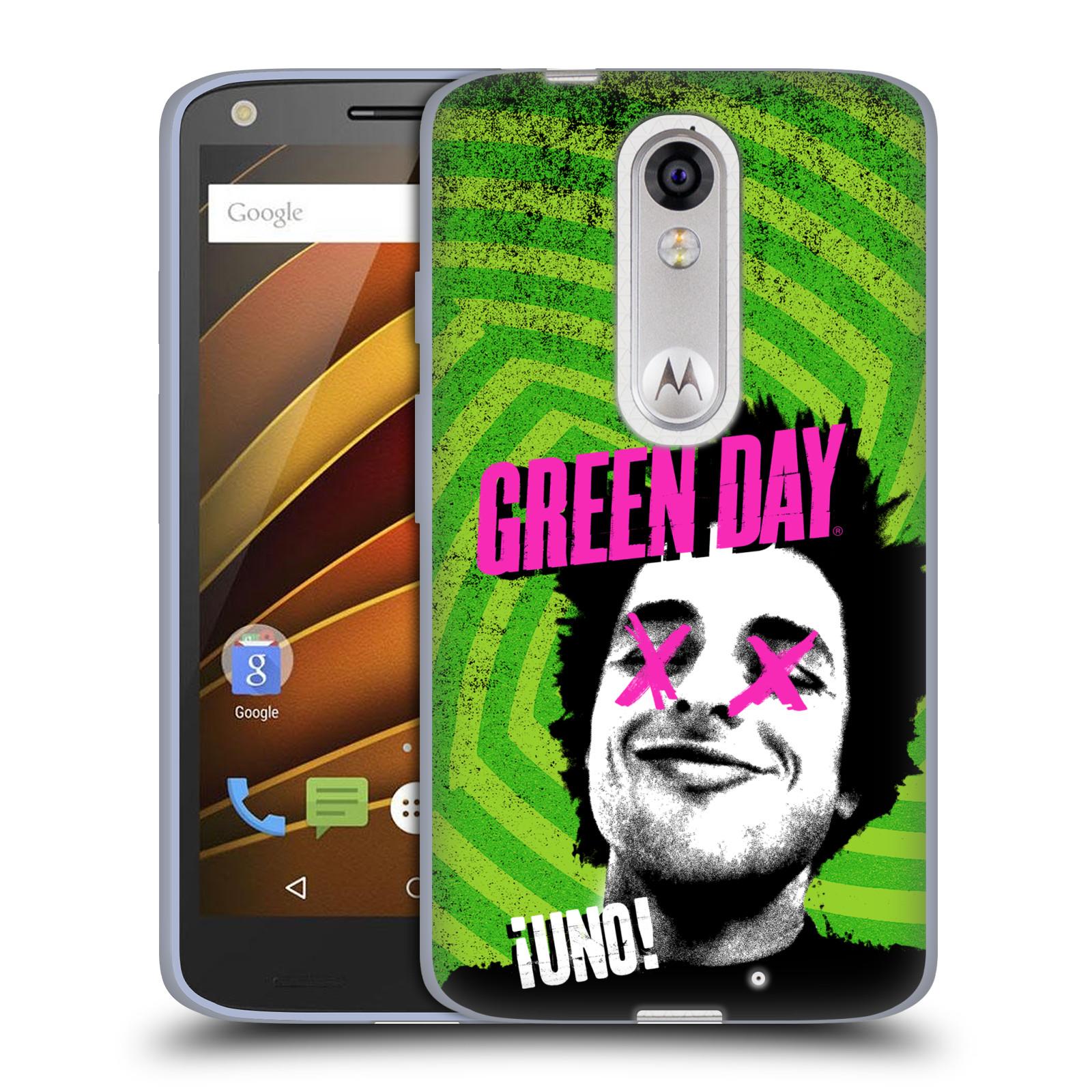 Silikonové pouzdro na mobil Lenovo Moto X Force HEAD CASE Green Day - Uno (Silikonový kryt či obal na mobilní telefon licencovaným motivem Green Day pro Lenovo Moto X Force (Motorola))