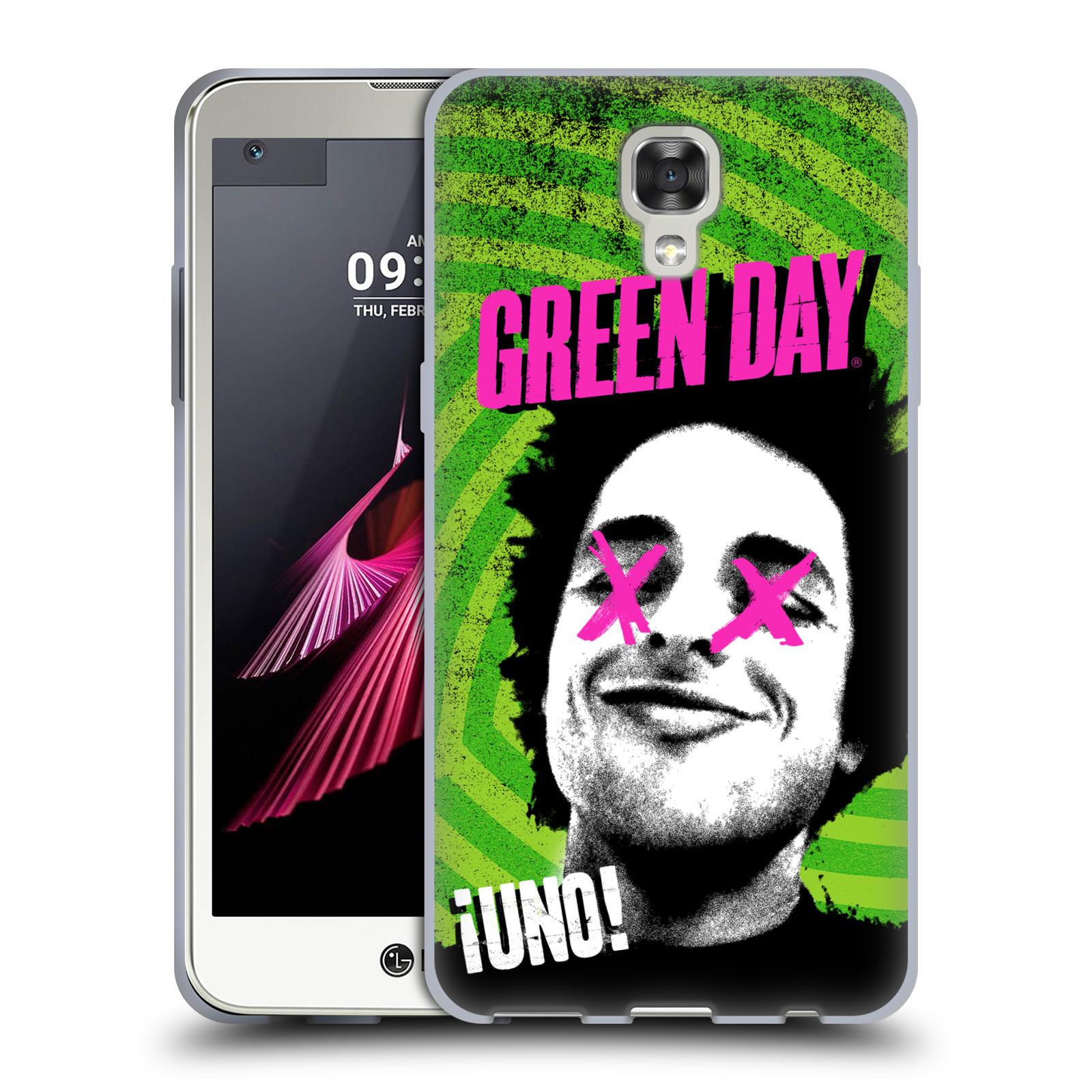 Silikonové pouzdro na mobil LG X Screen HEAD CASE Green Day - Uno (Silikonový kryt či obal na mobilní telefon licencovaným motivem Green Day pro LG X Screen K500N)