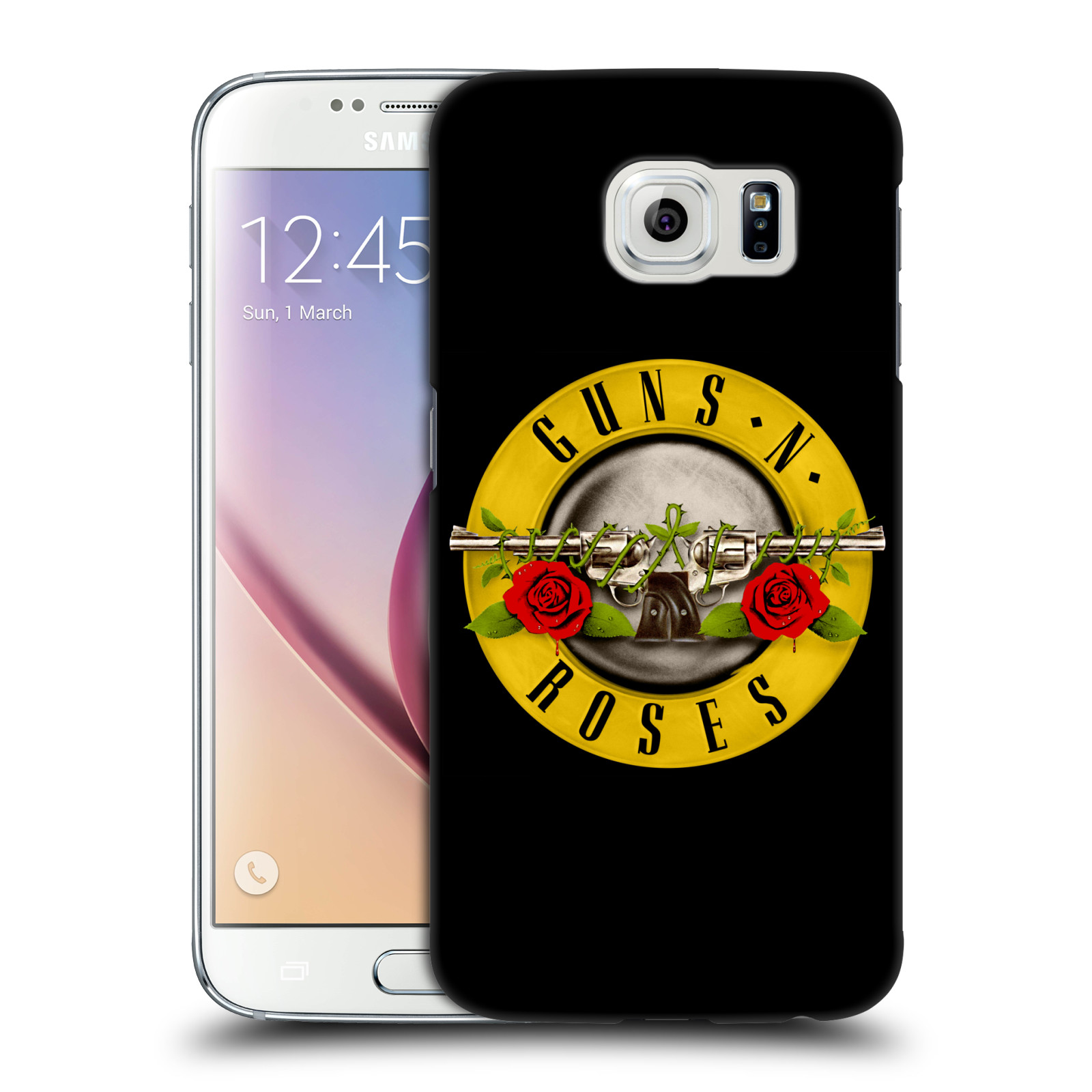 Plastové pouzdro na mobil Samsung Galaxy S6 HEAD CASE Guns N' Roses - Logo