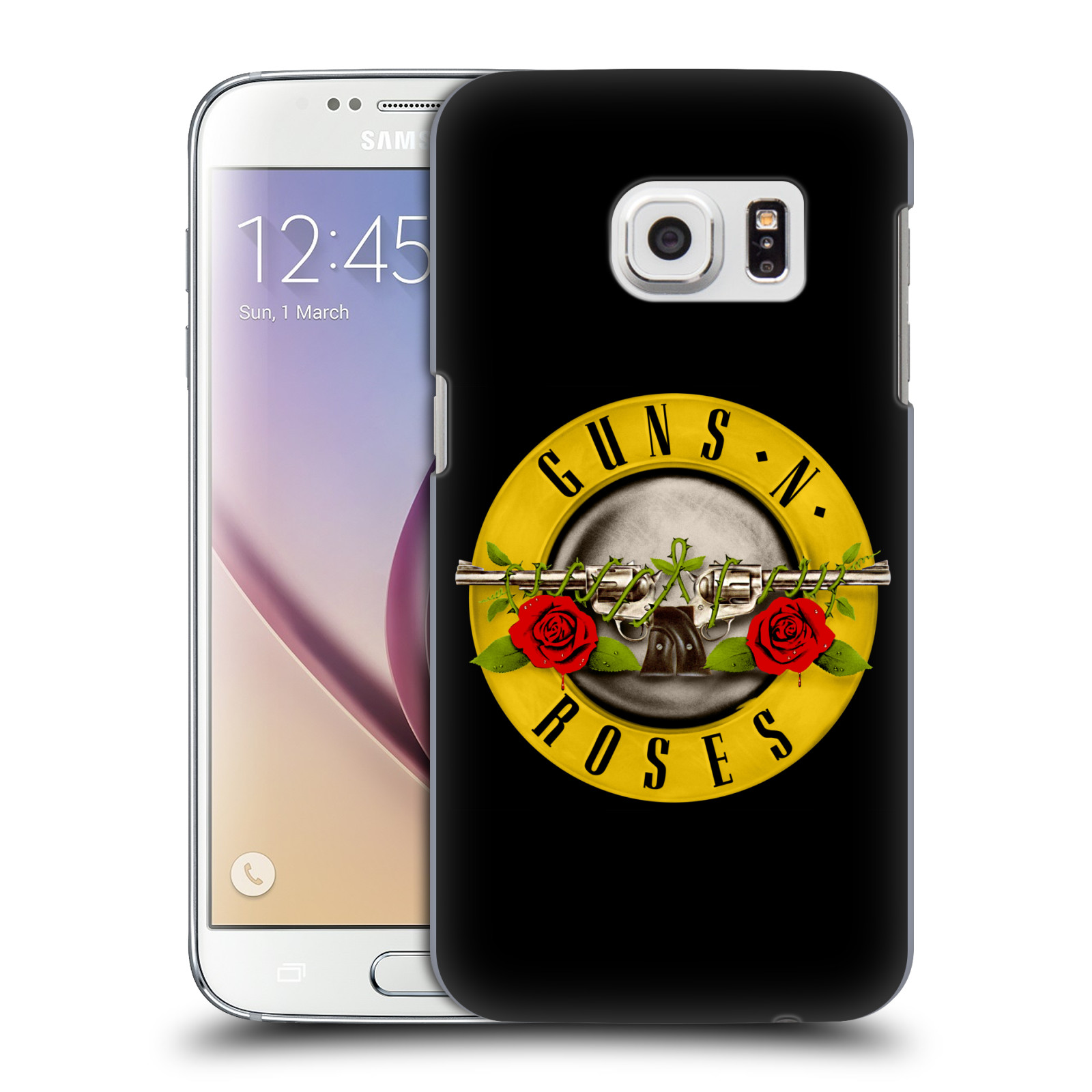 Plastové pouzdro na mobil Samsung Galaxy S7 HEAD CASE Guns N' Roses - Logo