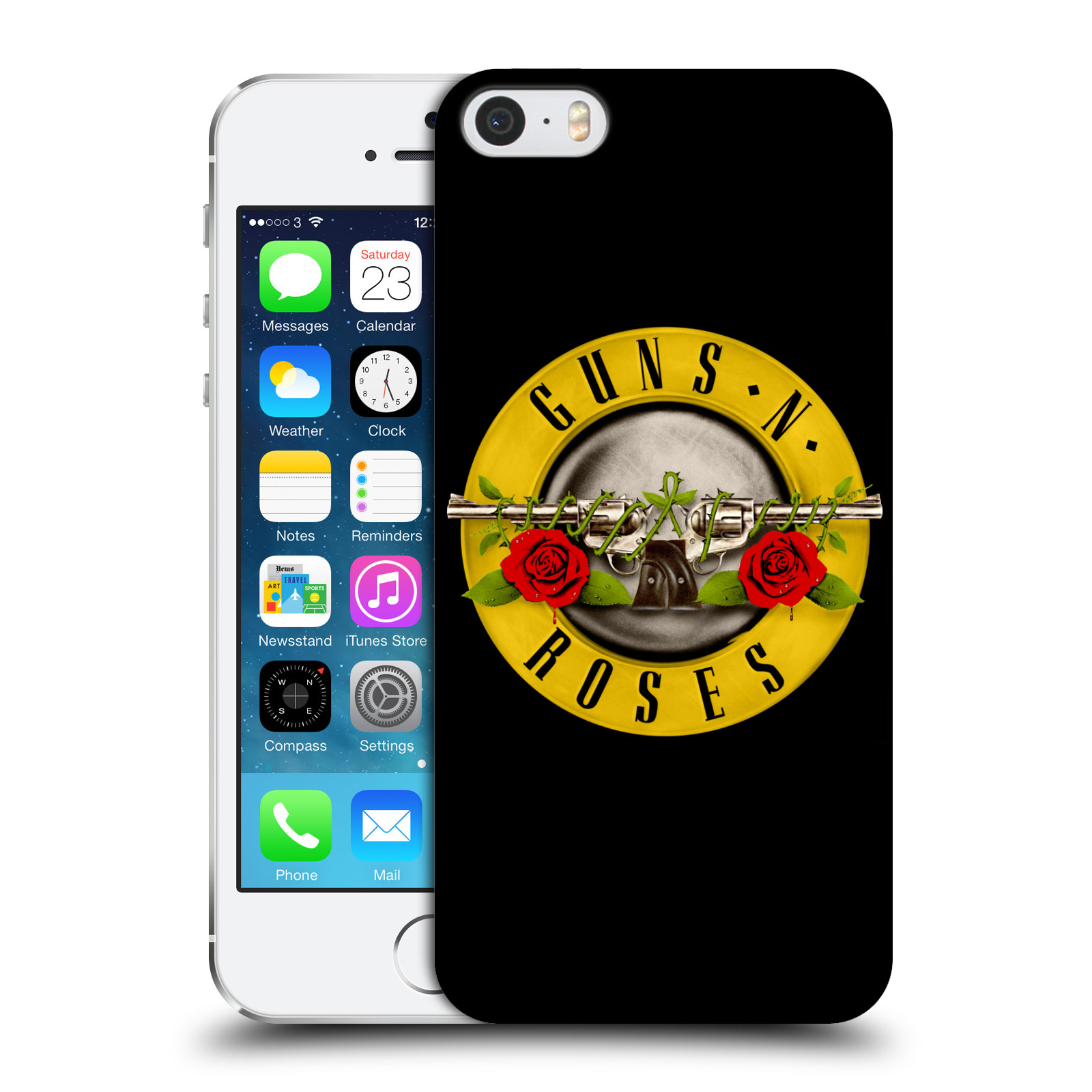 Plastové pouzdro na mobil Apple iPhone SE, 5 a 5S HEAD CASE Guns N' Roses - Logo