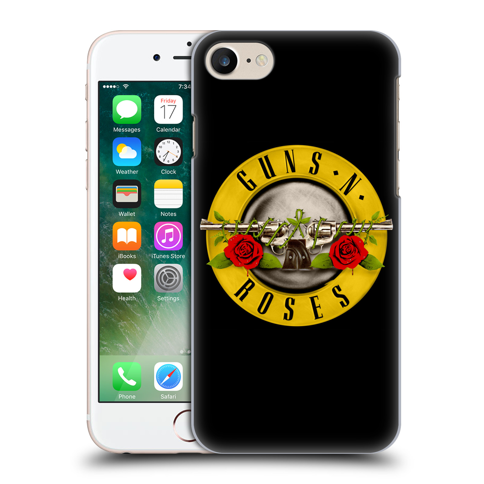 Plastové pouzdro na mobil Apple iPhone 7 HEAD CASE Guns N' Roses - Logo