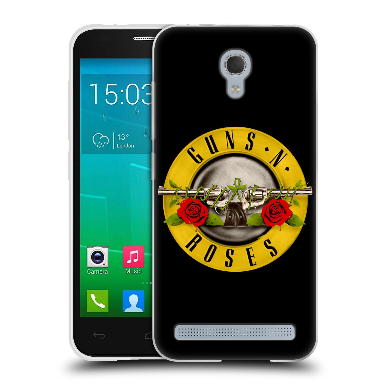 Silikonové pouzdro na mobil Alcatel One Touch Idol 2 Mini S 6036Y HEAD CASE Guns N' Roses - Logo (Silikonový kryt či obal na mobilní telefon licencovaným motivem Guns N' Roses pro Alcatel Idol 2 Mini S OT-6036Y)