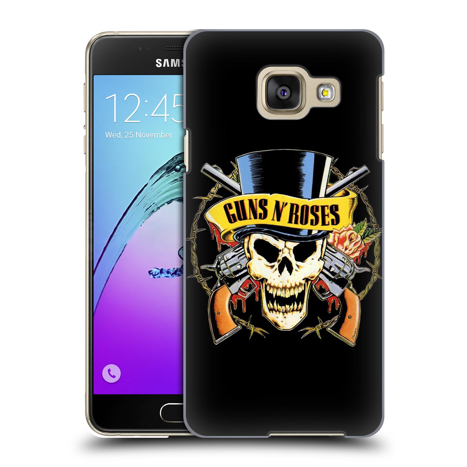 Plastové pouzdro na mobil Samsung Galaxy A3 (2016) HEAD CASE Guns N' Roses - Lebka