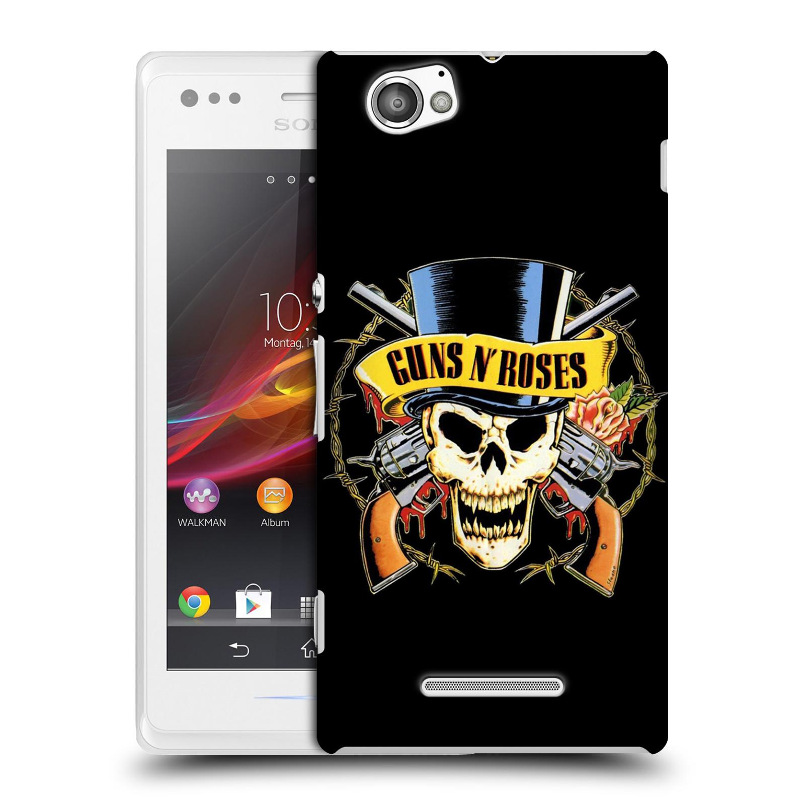 Plastové pouzdro na mobil Sony Xperia M C1905 HEAD CASE Guns N' Roses - Lebka