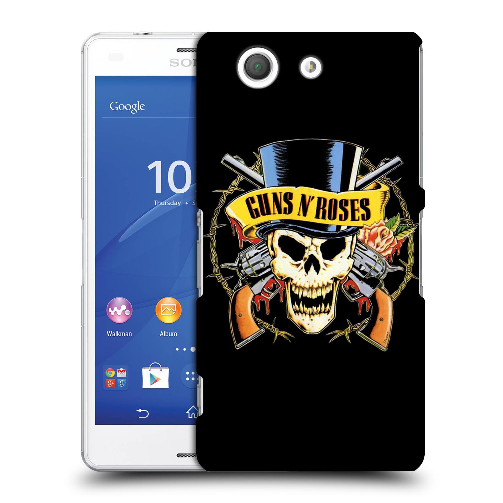Plastové pouzdro na mobil Sony Xperia Z3 Compact D5803 HEAD CASE Guns N' Roses - Lebka